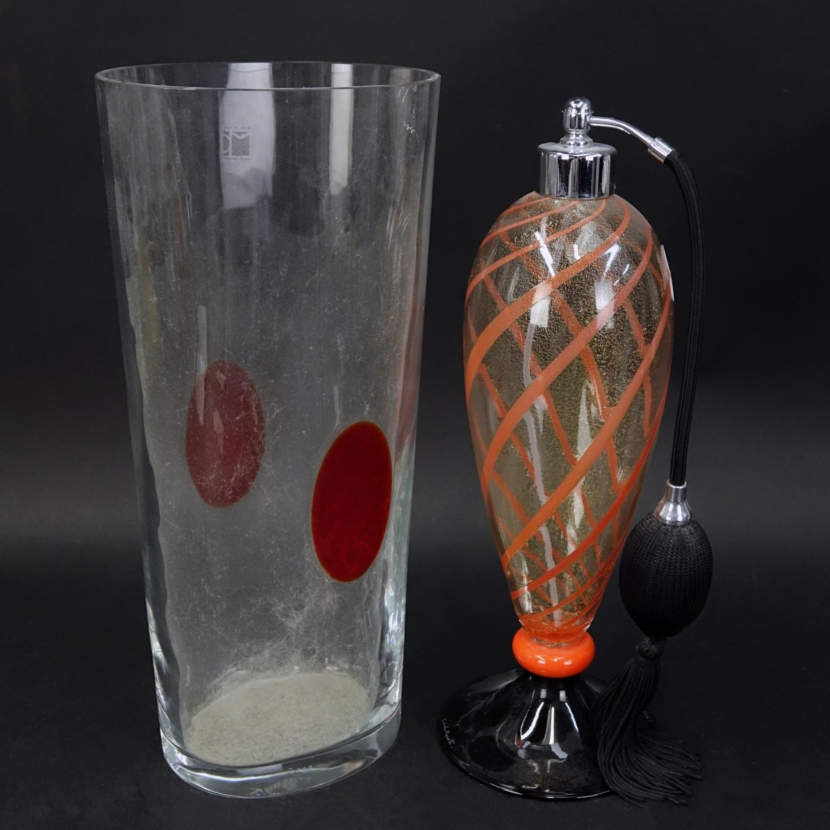 Two (2) Carlo Moretti Art Glass Tableware