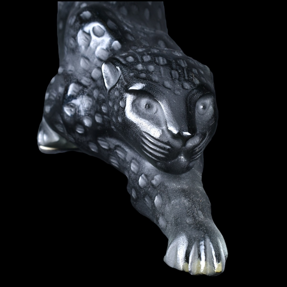 "Lalique ""Zeila Panther, Grey"" Crystal Figurine"
