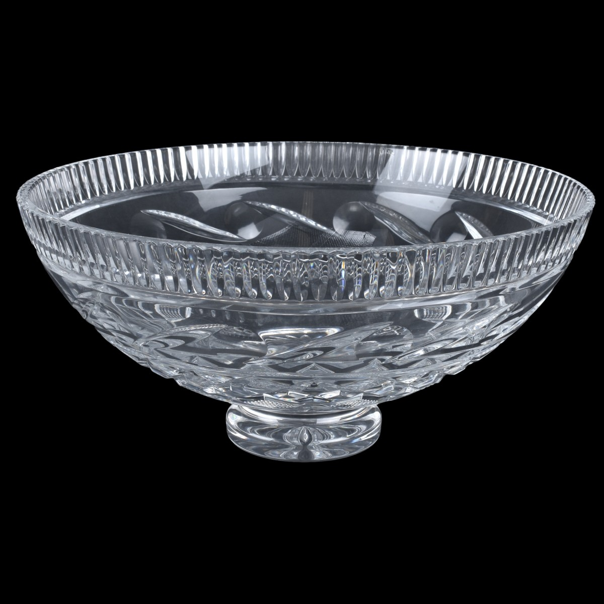 Waterford Cut Crystal Footed Centerpiece Bowl