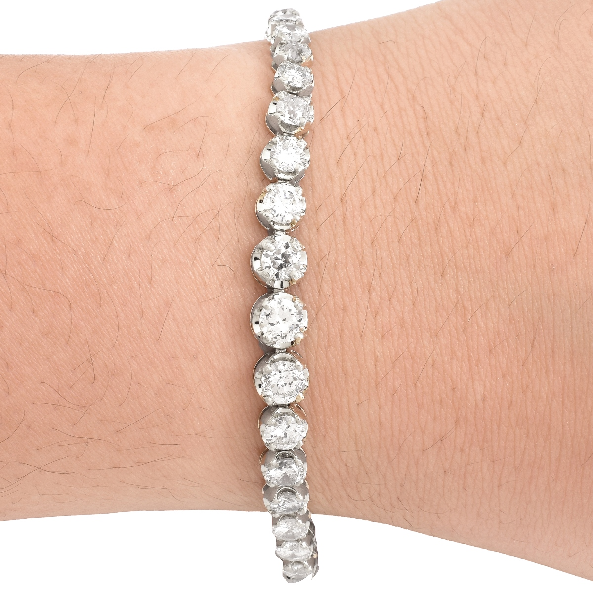 9.27 Carat Diamond and 18K Gold Bracelet