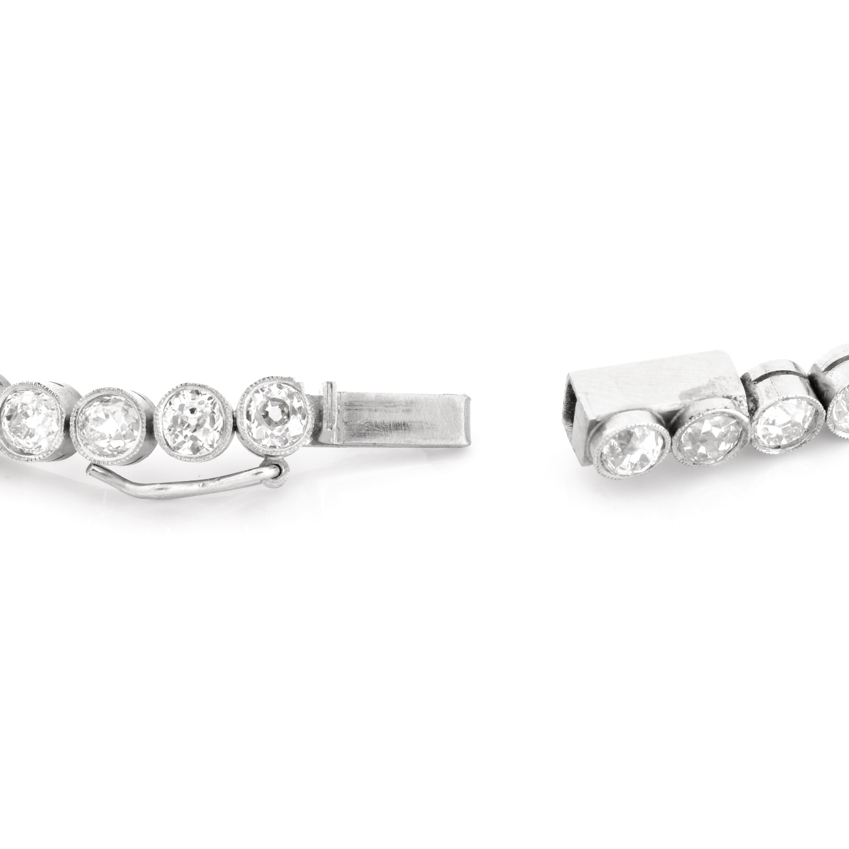 14.0 Carat Diamond and Platinum Bracelet