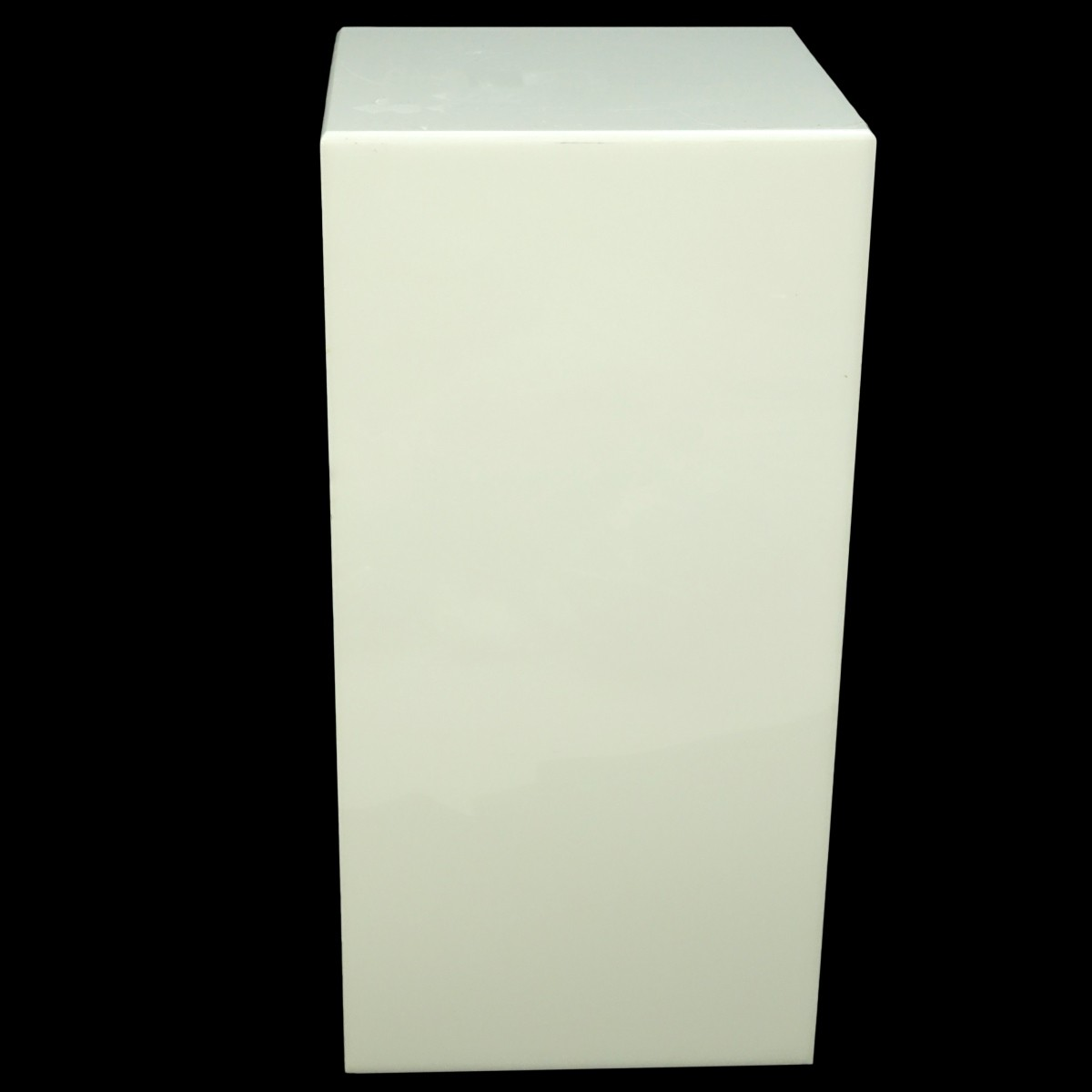 Modern White Lucite Electrified Display Pedestal
