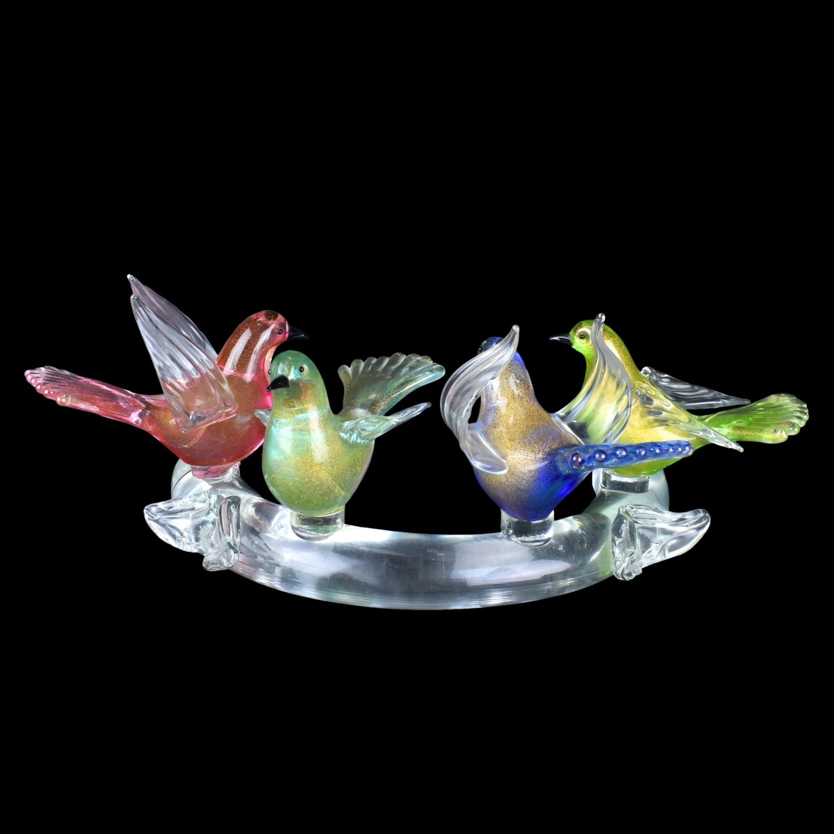 Murano Italian Art Glass Centerpiece Group