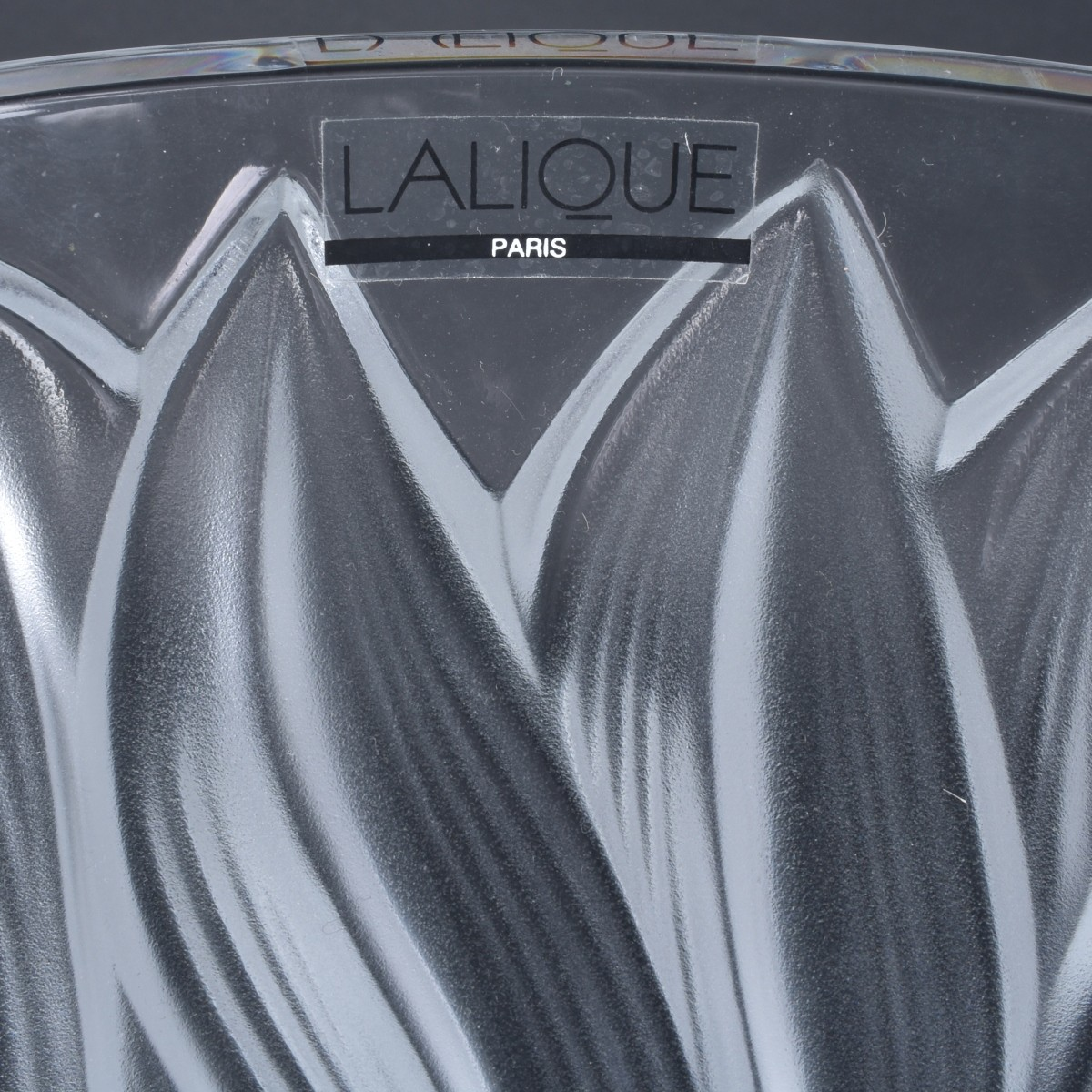 Lalique Jaguar Clear and Frosted Crystal Vase