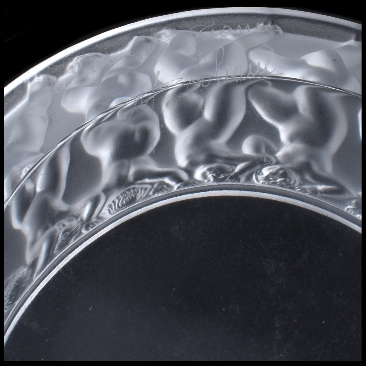 "Lalique ""Enfantes"" Frosted and Crystal Covered Box"