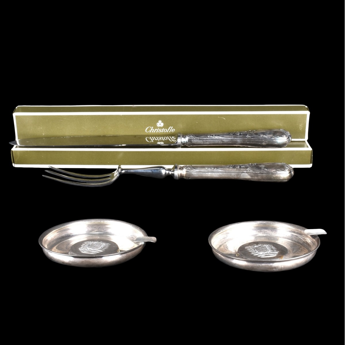 Christofle Marly Carving Set & Camuso Silver