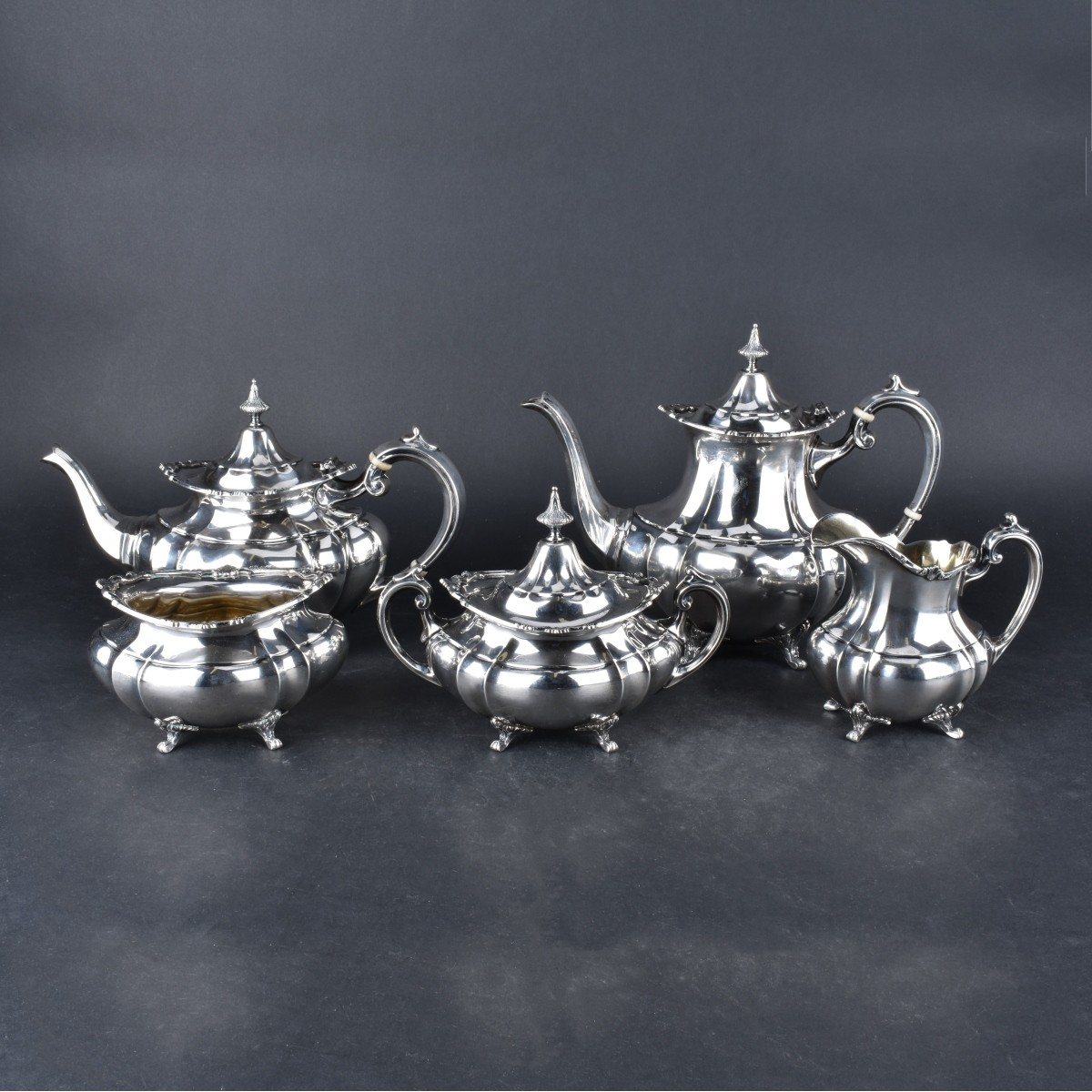 "Reed & Barton ""Hampton Court"" Sterling Tea Set"