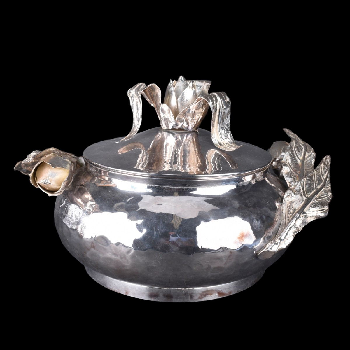 Large Franco Lagini Silver Plate Covered Tureen
