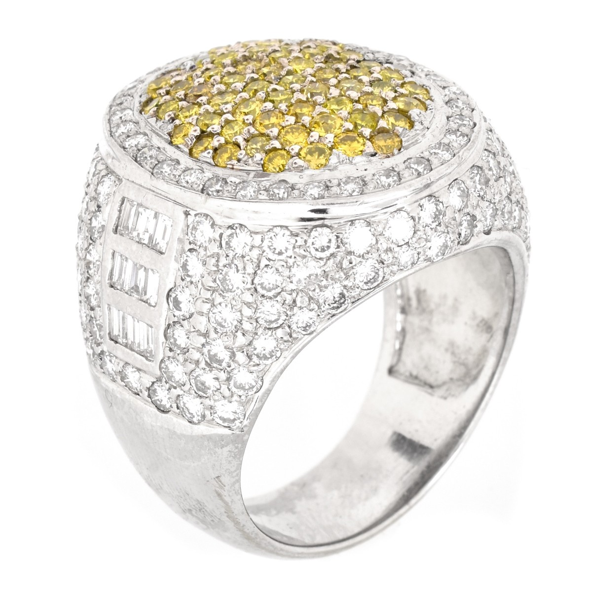 Man's Approx. 5.0 Carat Diamond and 14K Gold Ring