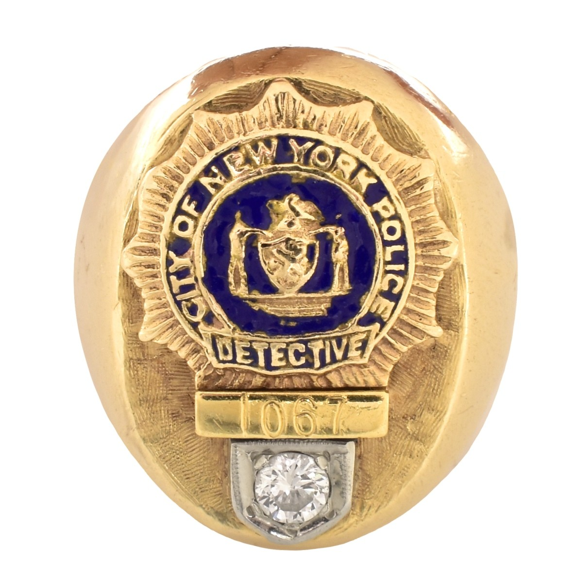 Vintage NYPD 14K Gold Ring