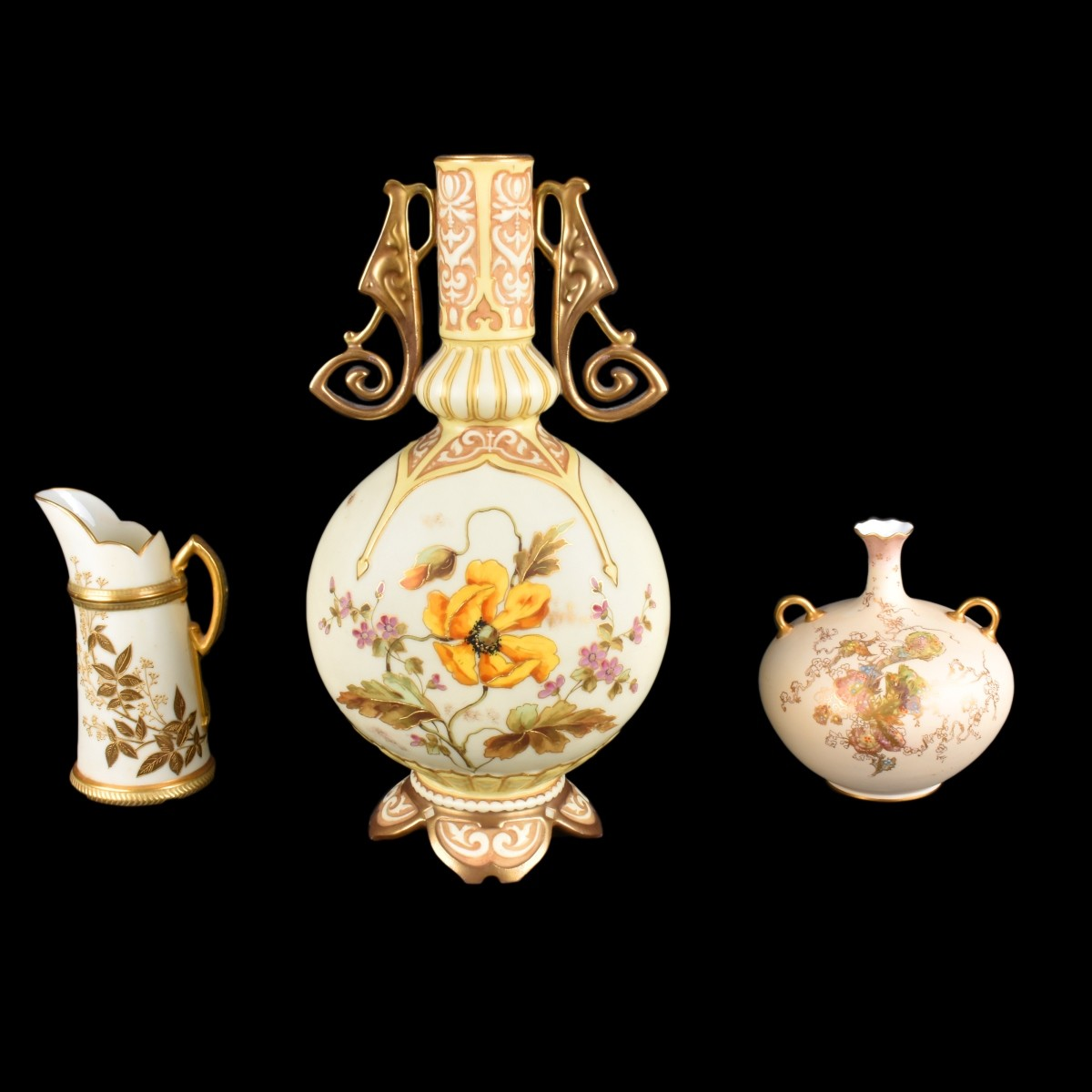 Three (3) European Porcelain Vases