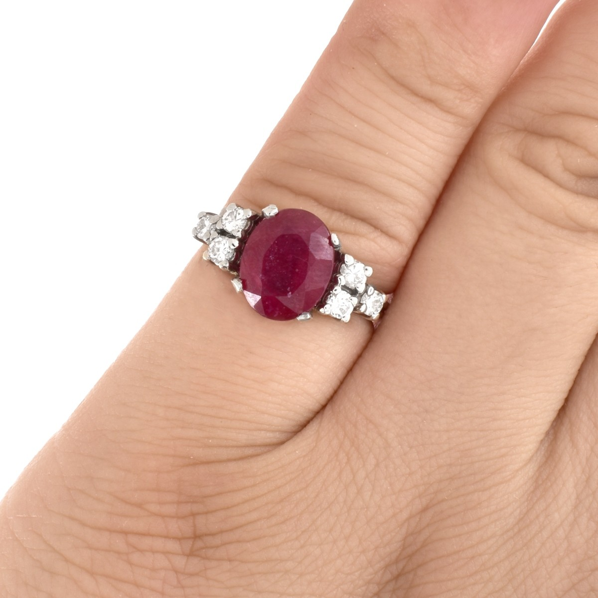 Ruby, Diamond and 14K Gold Ring