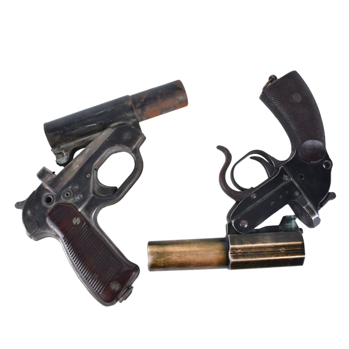 Two (2) Vintage Russian Flare Guns