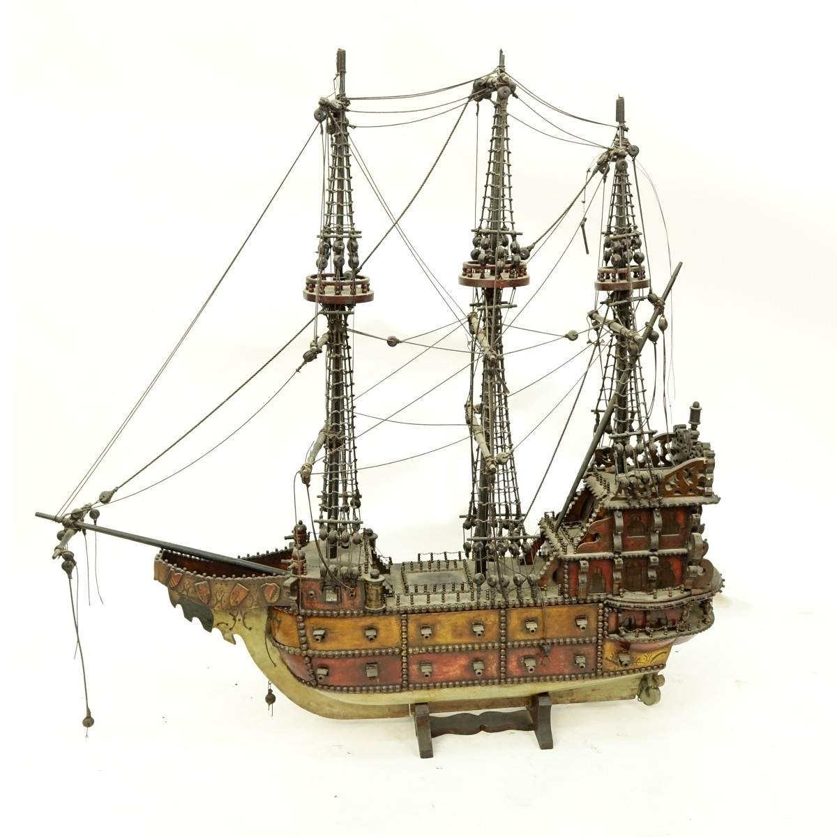 Antique Model Of A Spanish Galleon