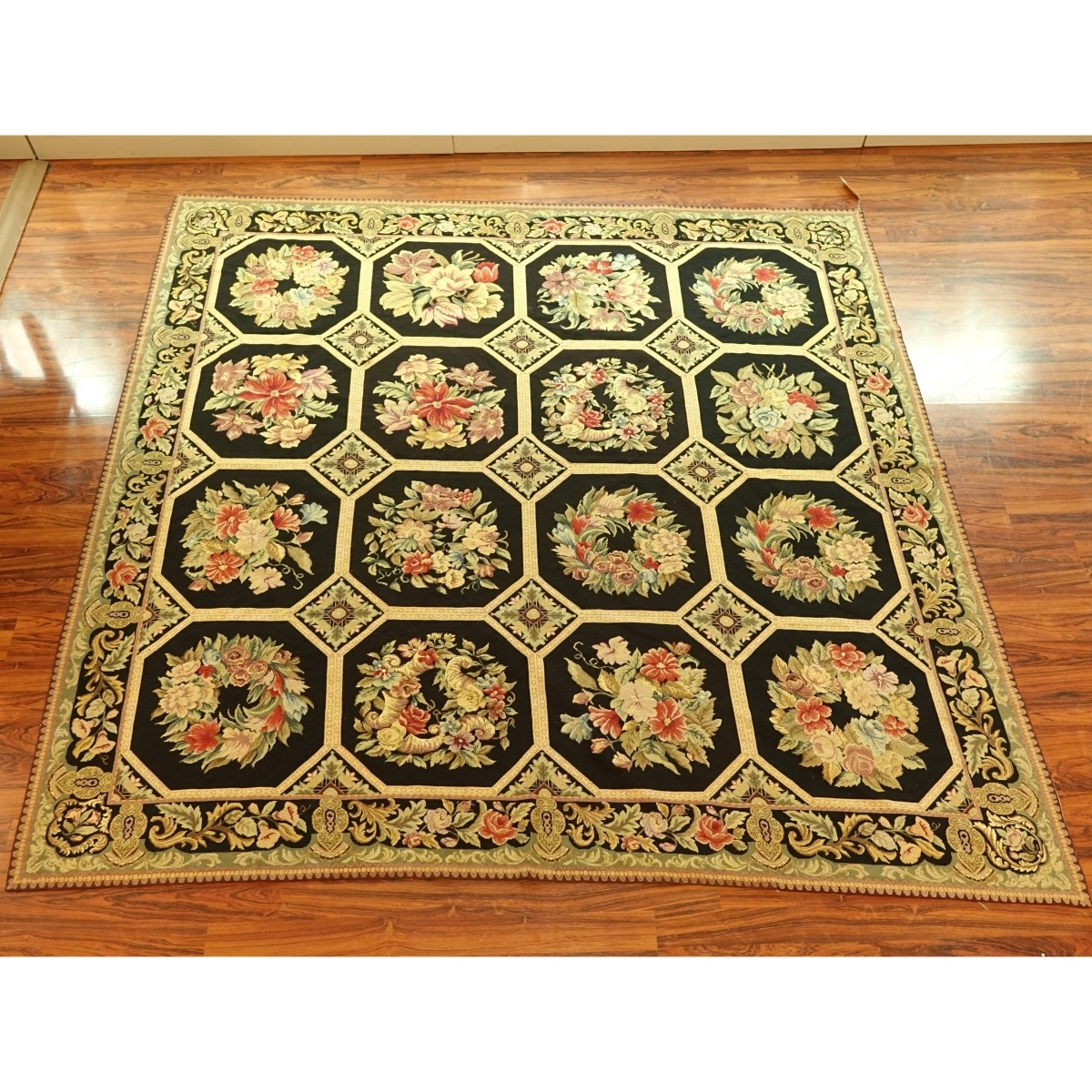 Large Antique Italian Hand Woven Rug