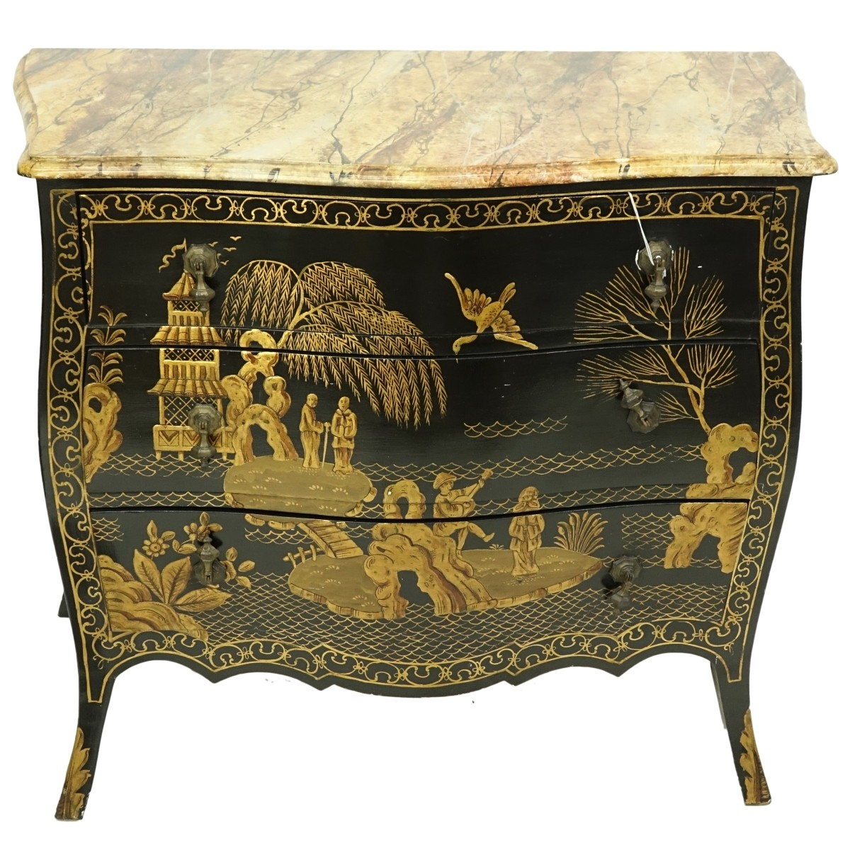 Mid Century Chinoiserie Chest of Drawers