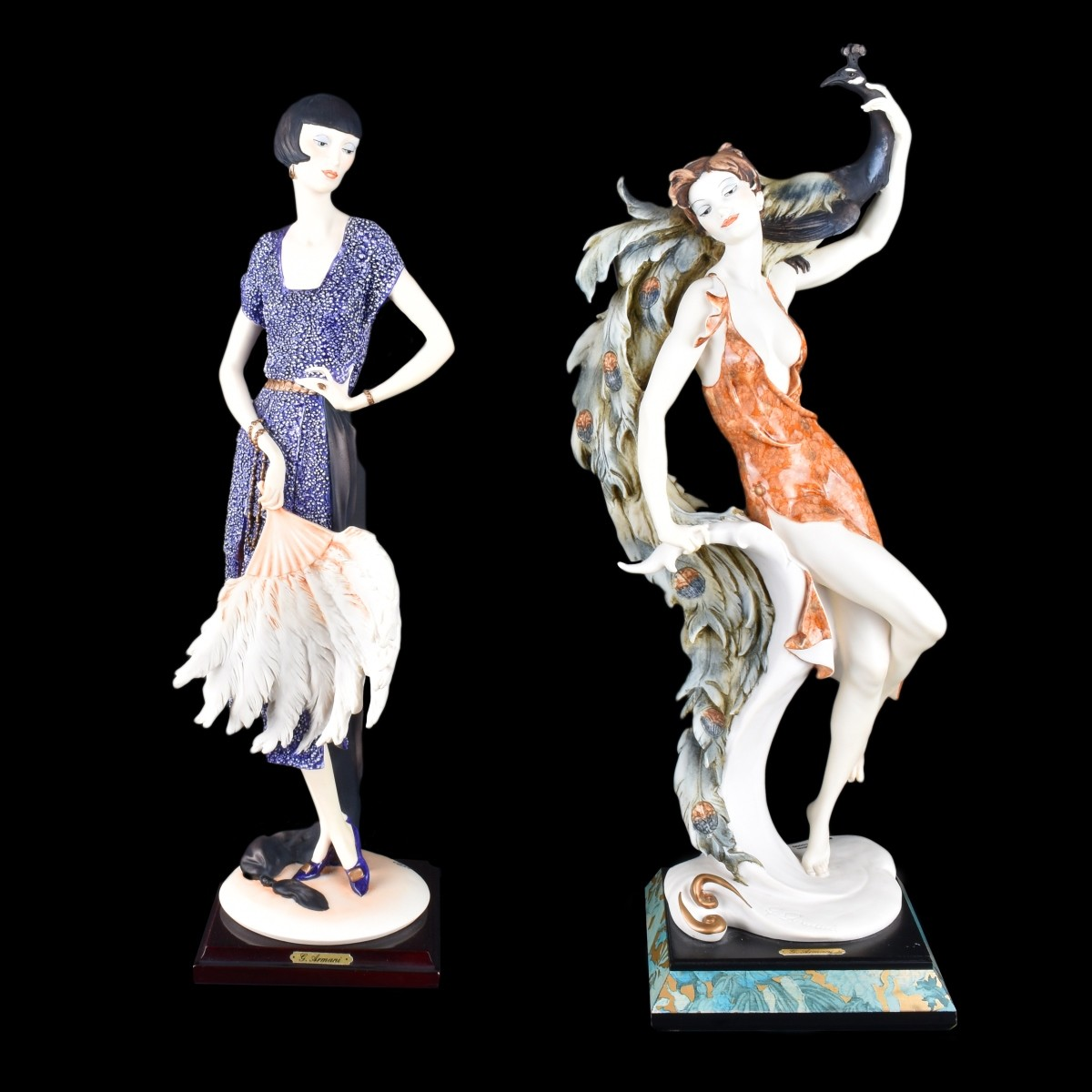 Two (2) Giuseppe Armani Art Deco Figurines