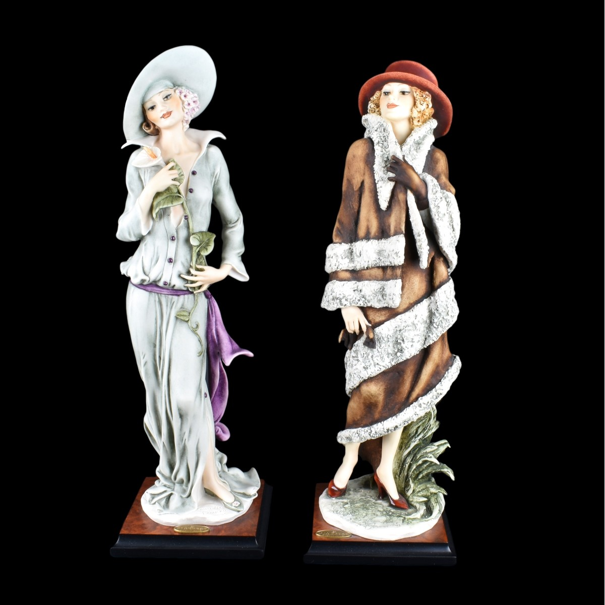 Two (2) Giuseppe Armani Polychrome Figurines