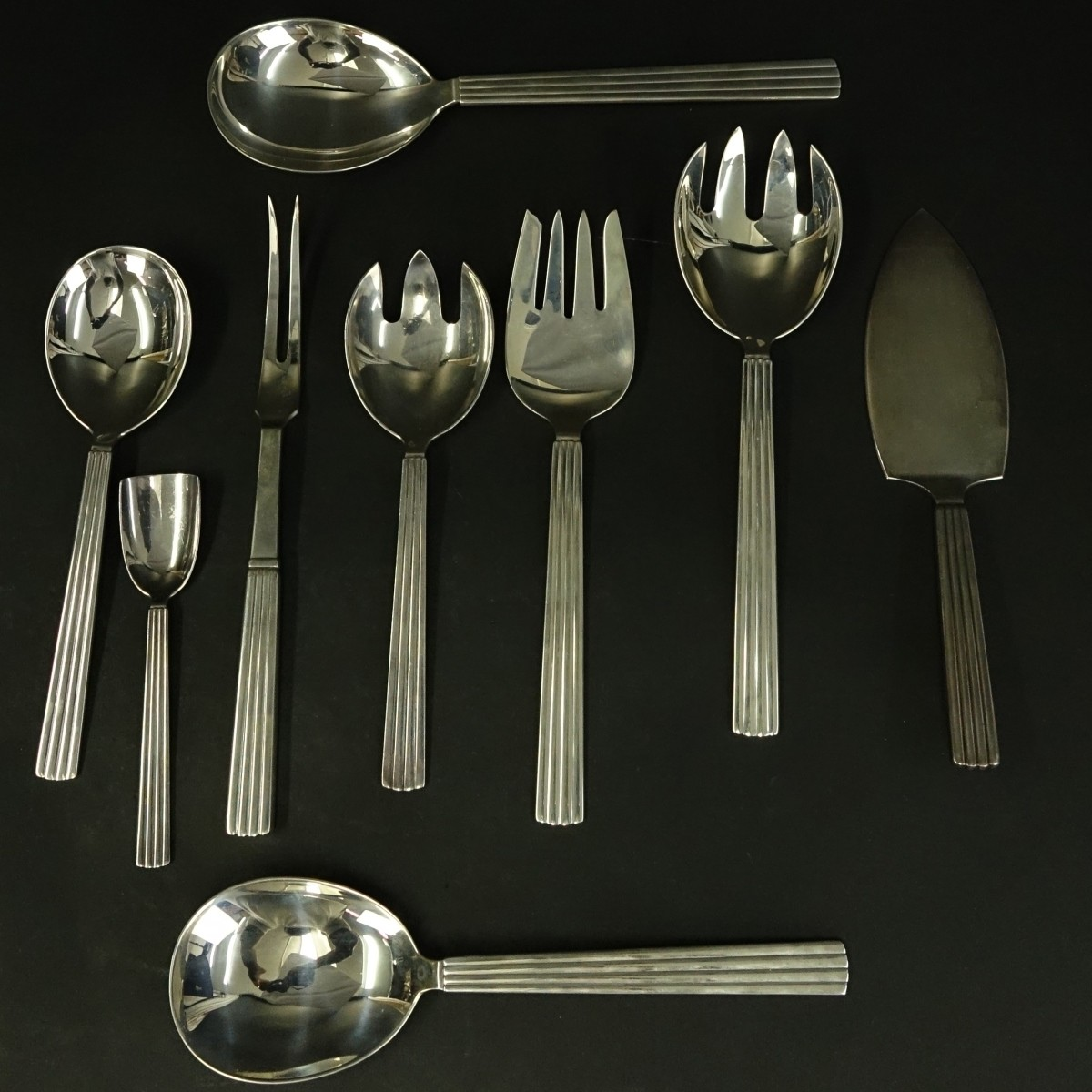 12 Georg Jensen Bernadotte Serving Pieces