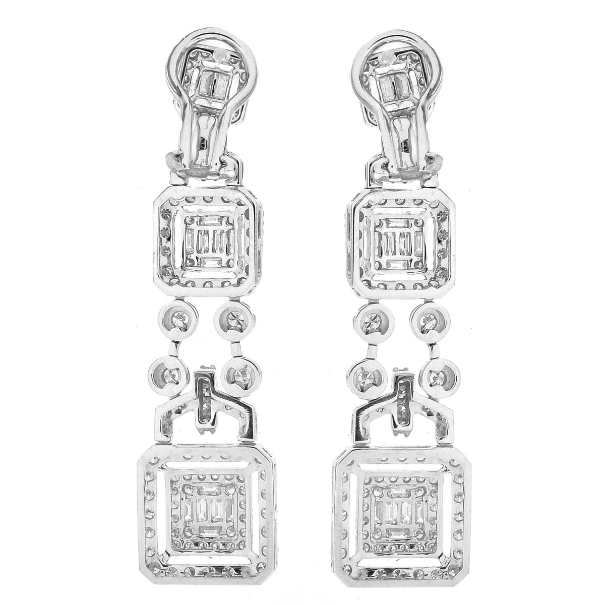5.0ct TW Diamond and 18K Gold Earrings