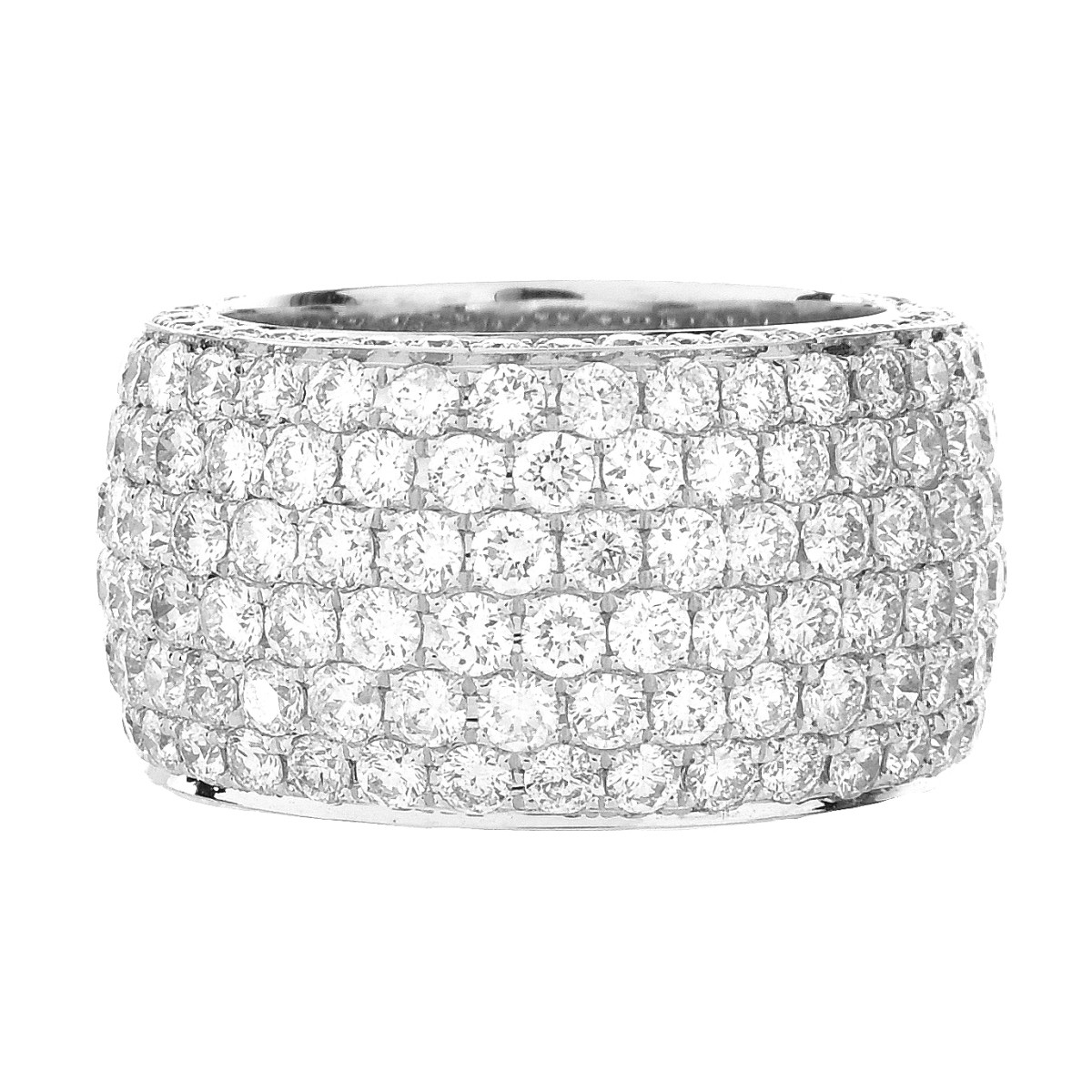 Cartier style Diamond Eternity Band