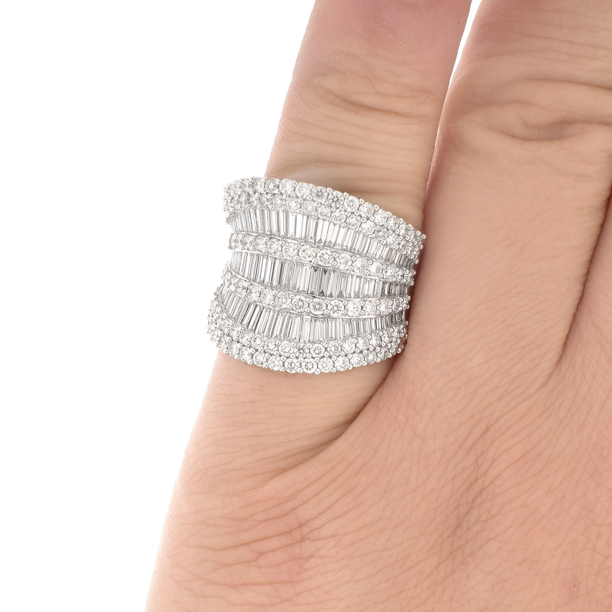 5.0ct TW Diamond and 18K Gold Ring