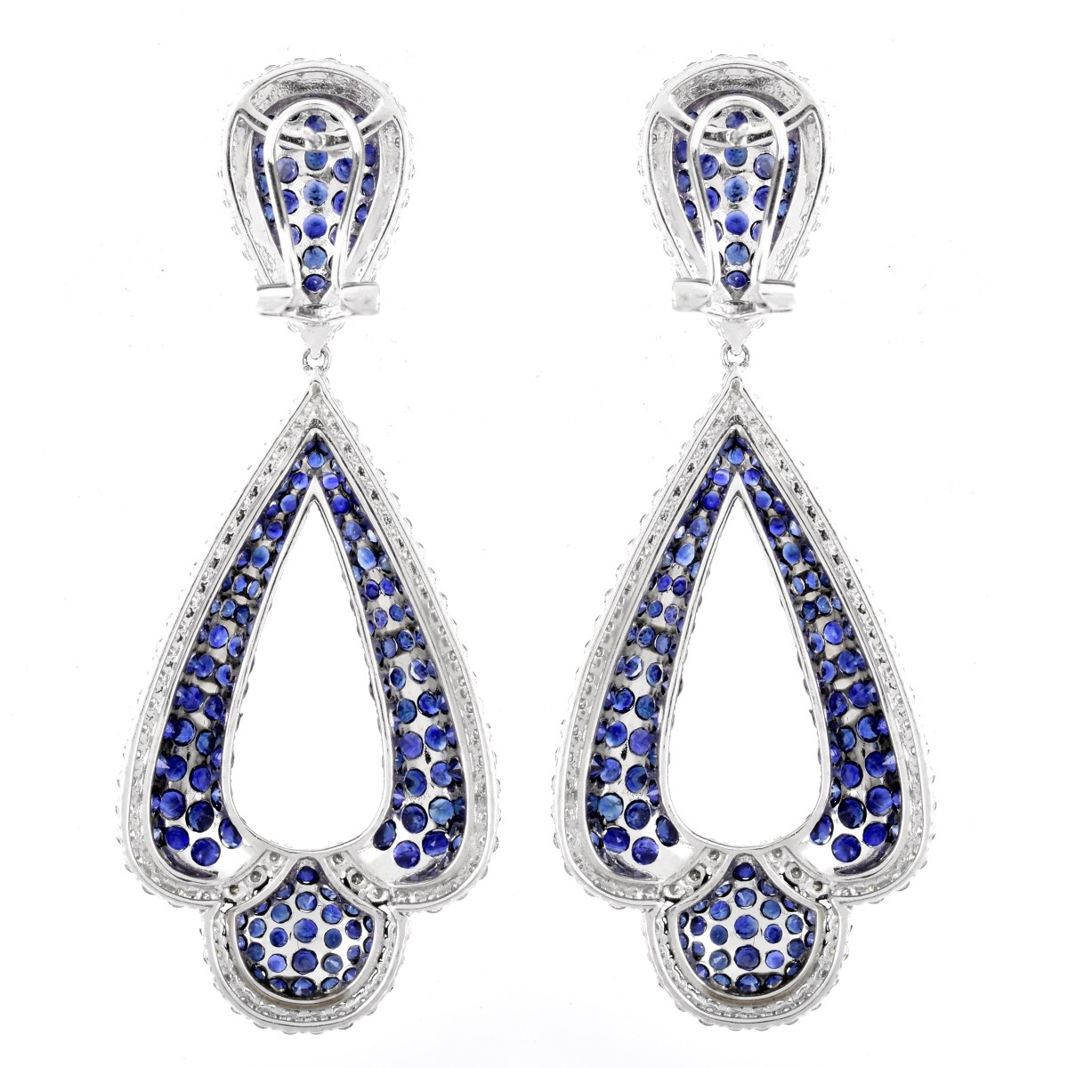 Sapphire, Diamond and 18K Gold Earrings