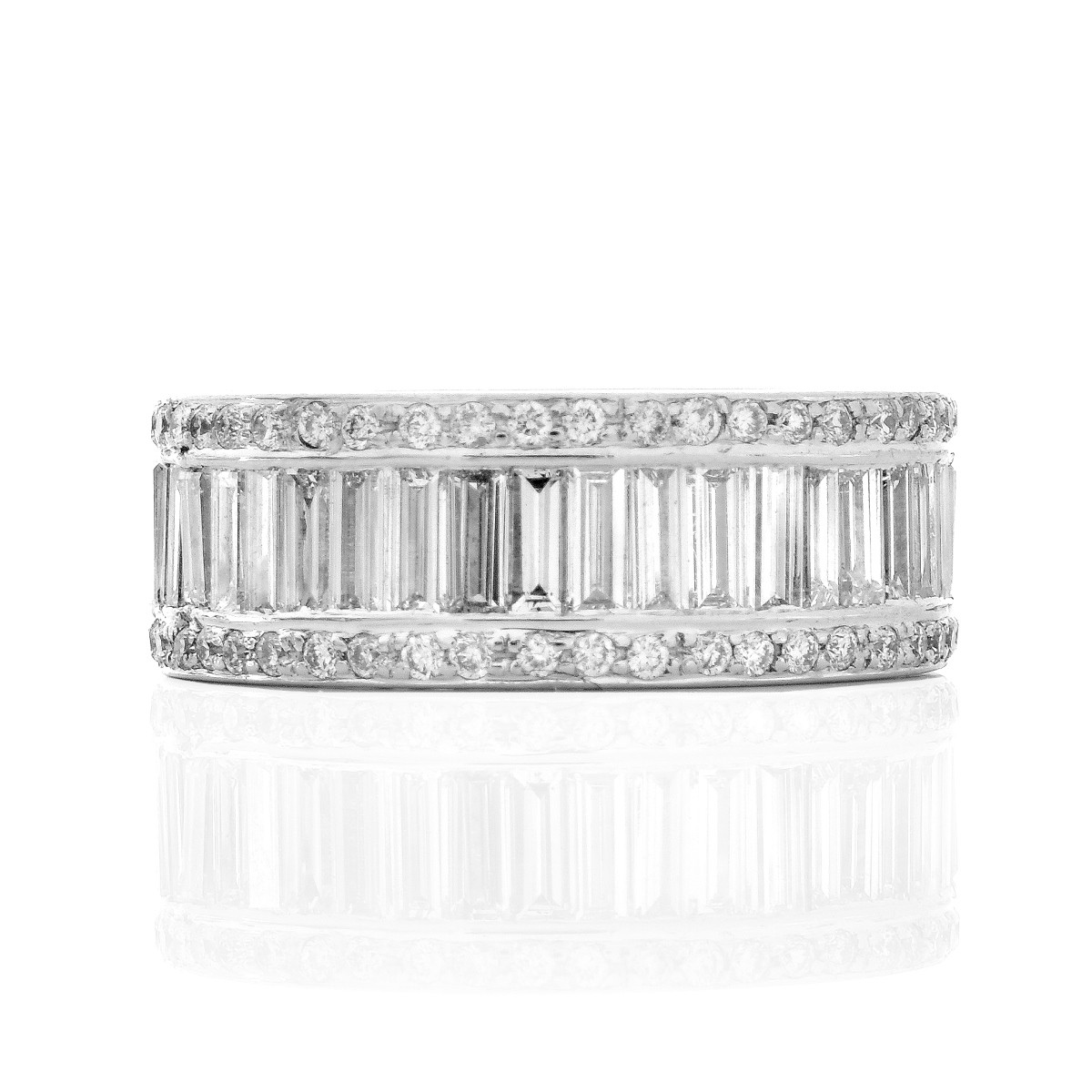 Diamond and White Gold Eternity Band