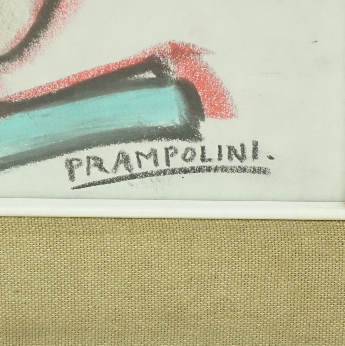 Enrico Prampolini Chalk Drawing