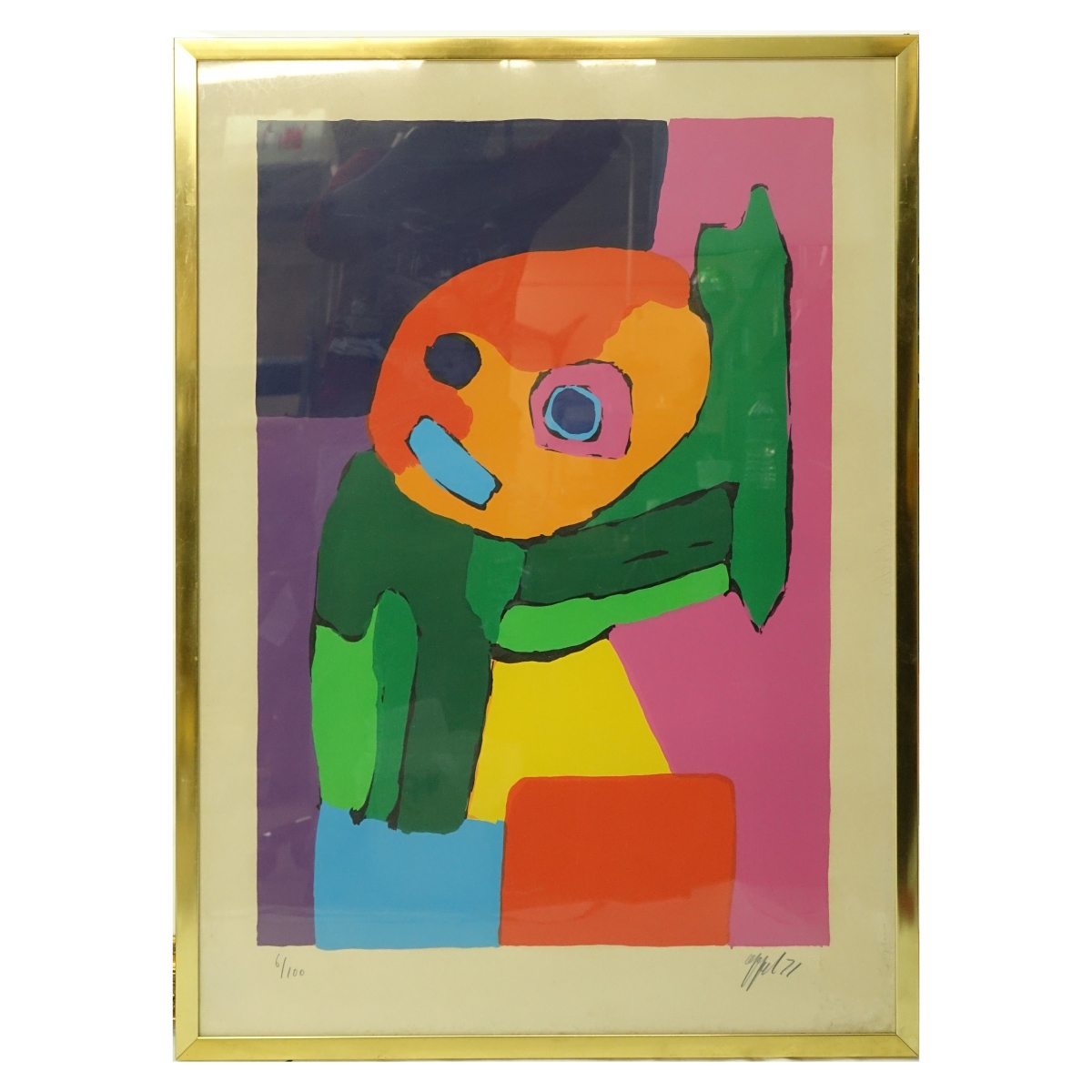 Karel Appel Color Lithograph