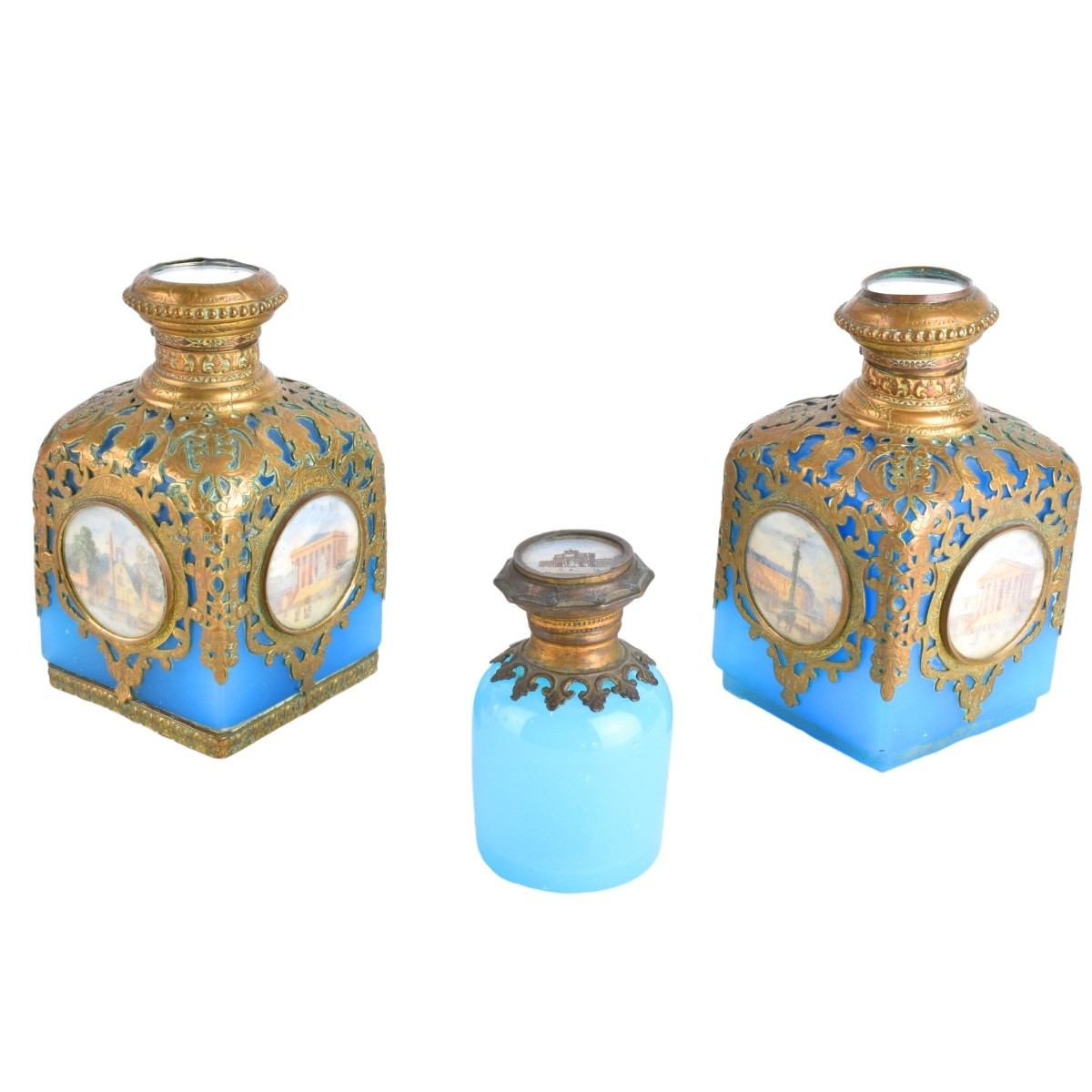 Three French Opaline Bottles