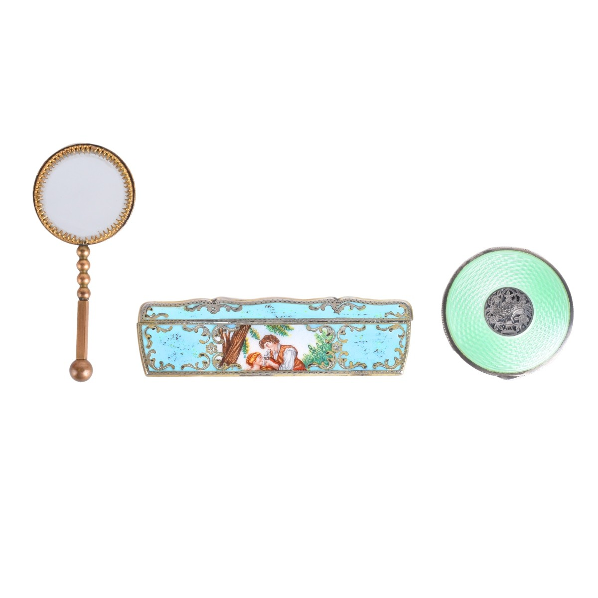 Three Enameled Accessories