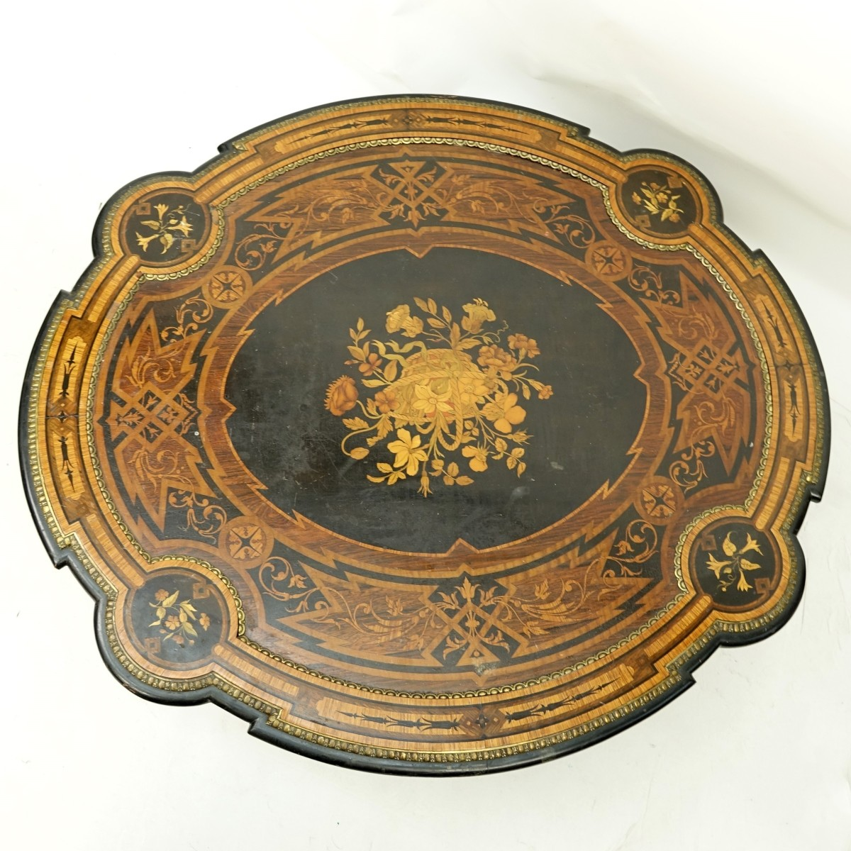 19th C Marquetry Coffee Table
