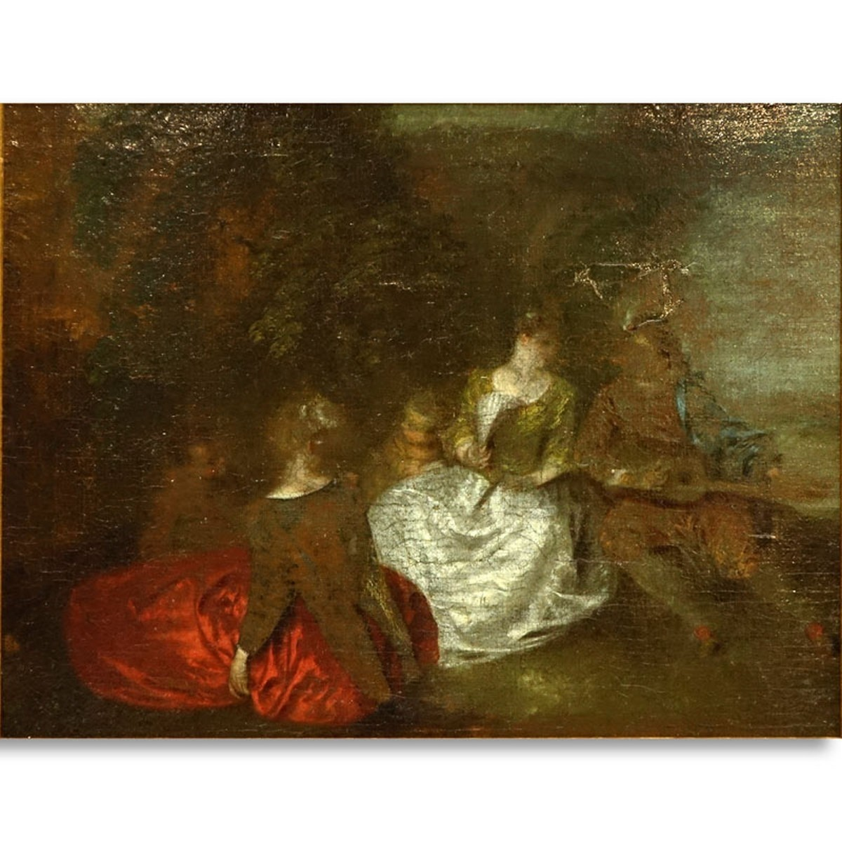 Antoine Watteau (1684 - 1721) Oil on Canvas