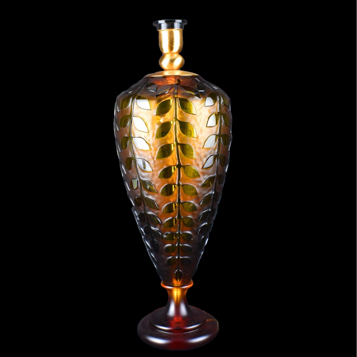 Contemporary Art Glass Lamp