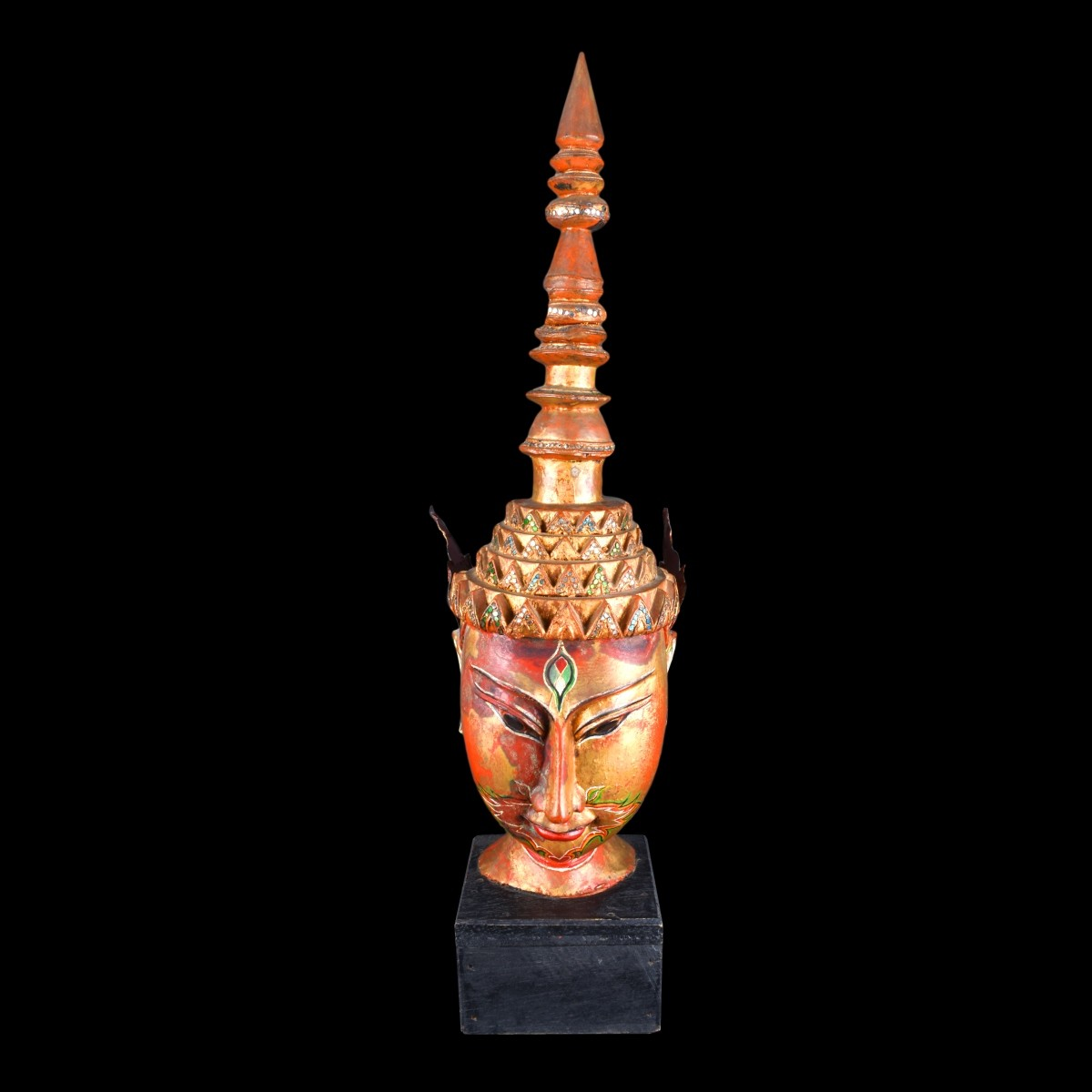 Thai Carved Bust
