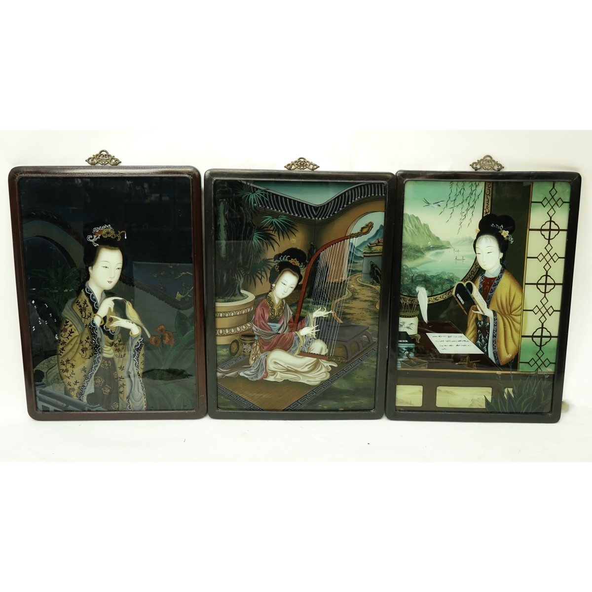 Chinese Reverse Painted Glass