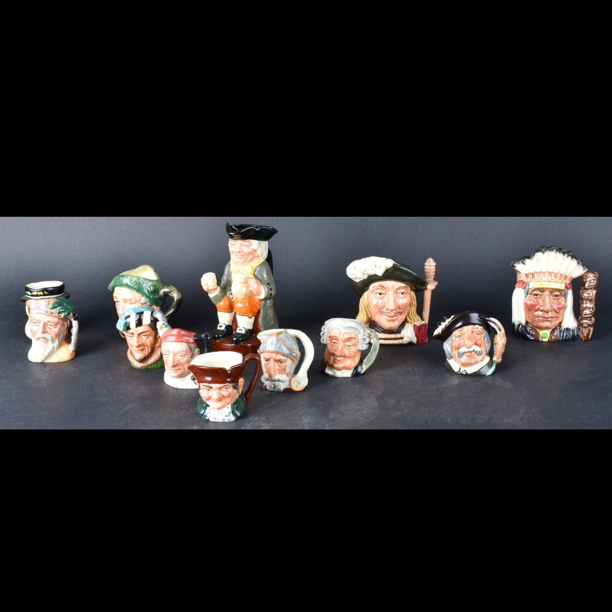 Collection of Twelve (12) Toby Mugs