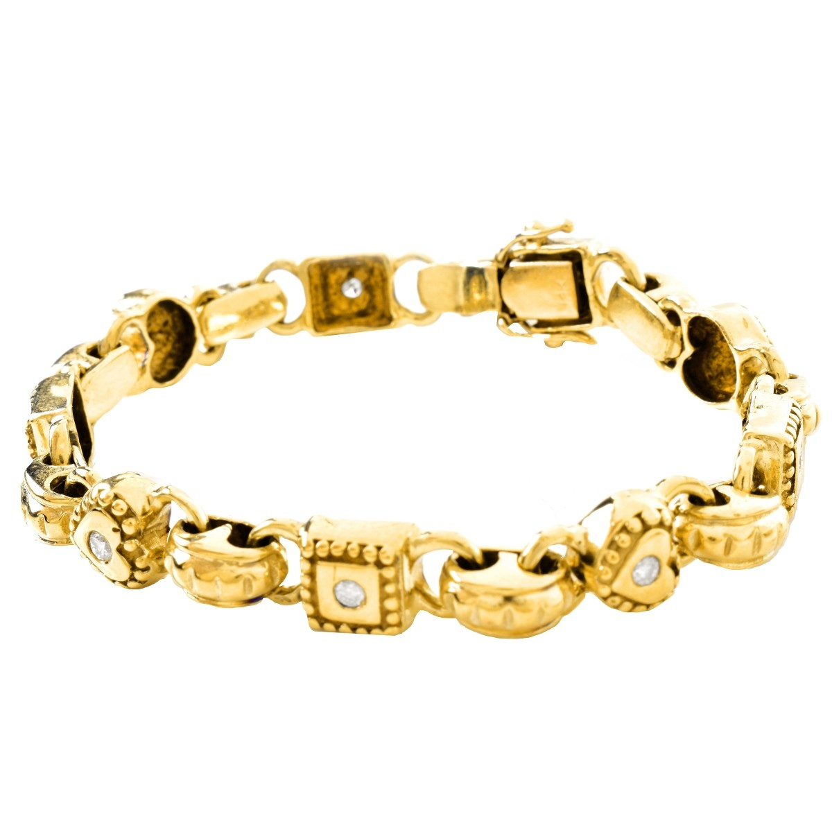 Vintage .75ct TW Diamond and 14K Gold Bracelet