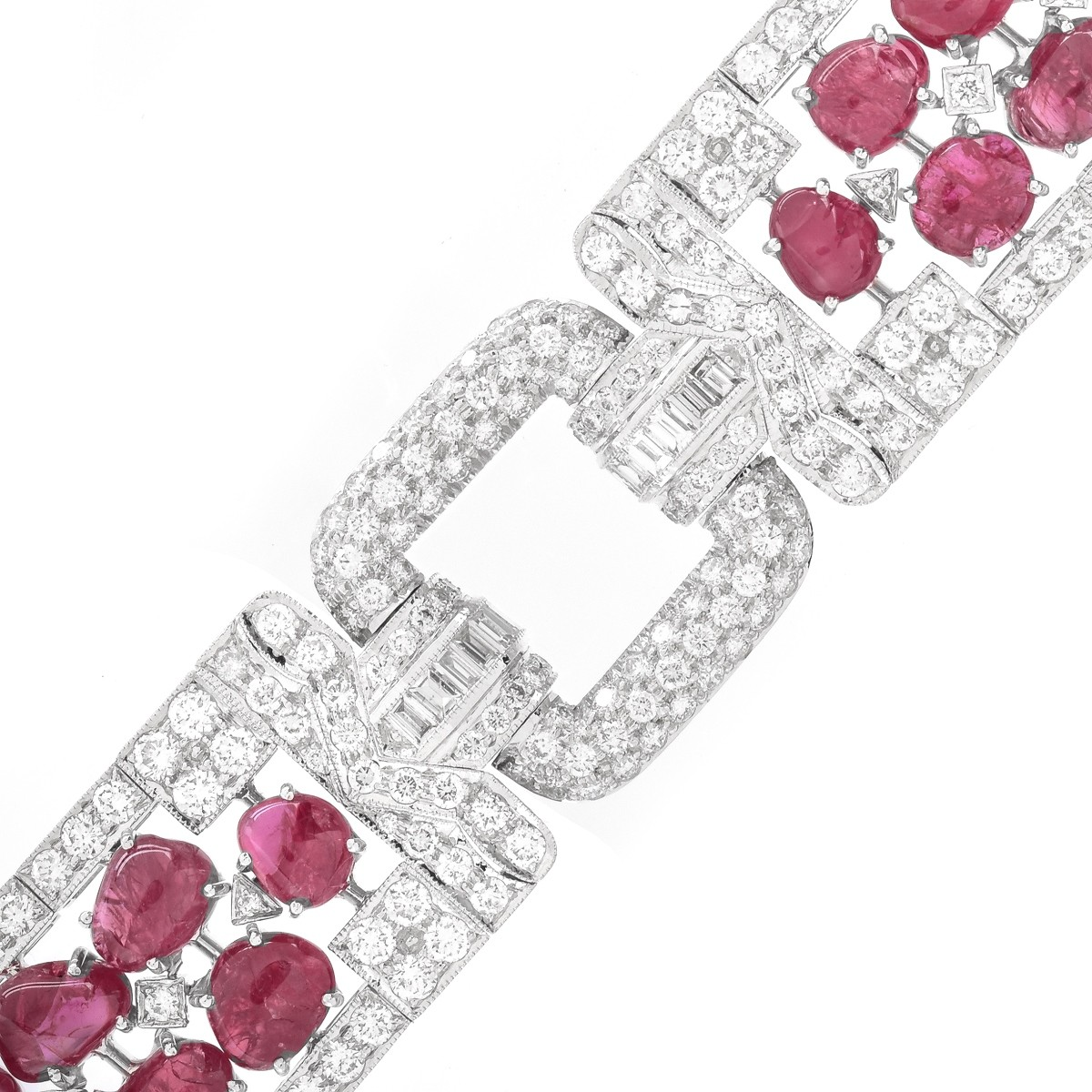 Ruby, Diamond and 18K Gold Bracelet