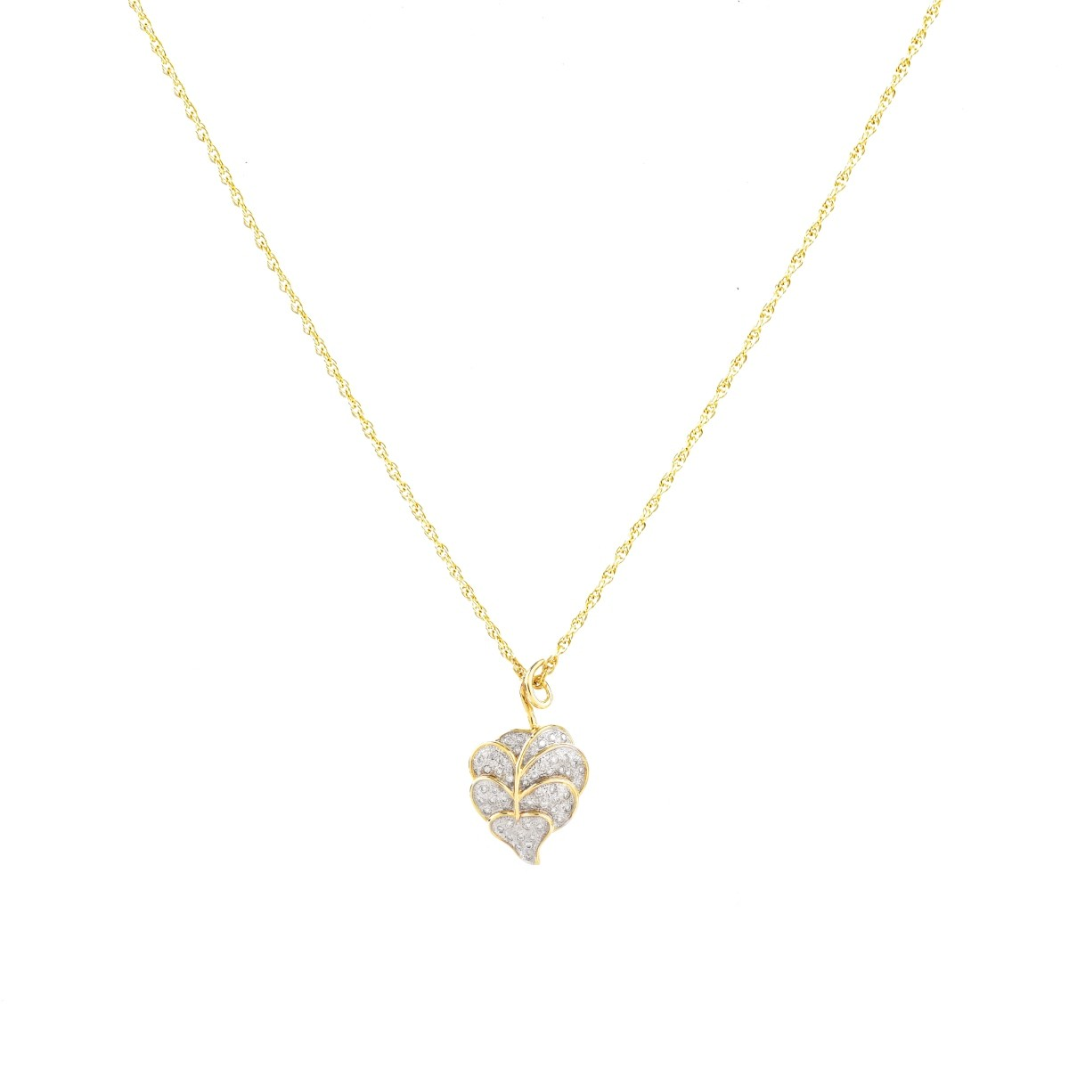 Vintage Diamond and 14K Gold Necklace