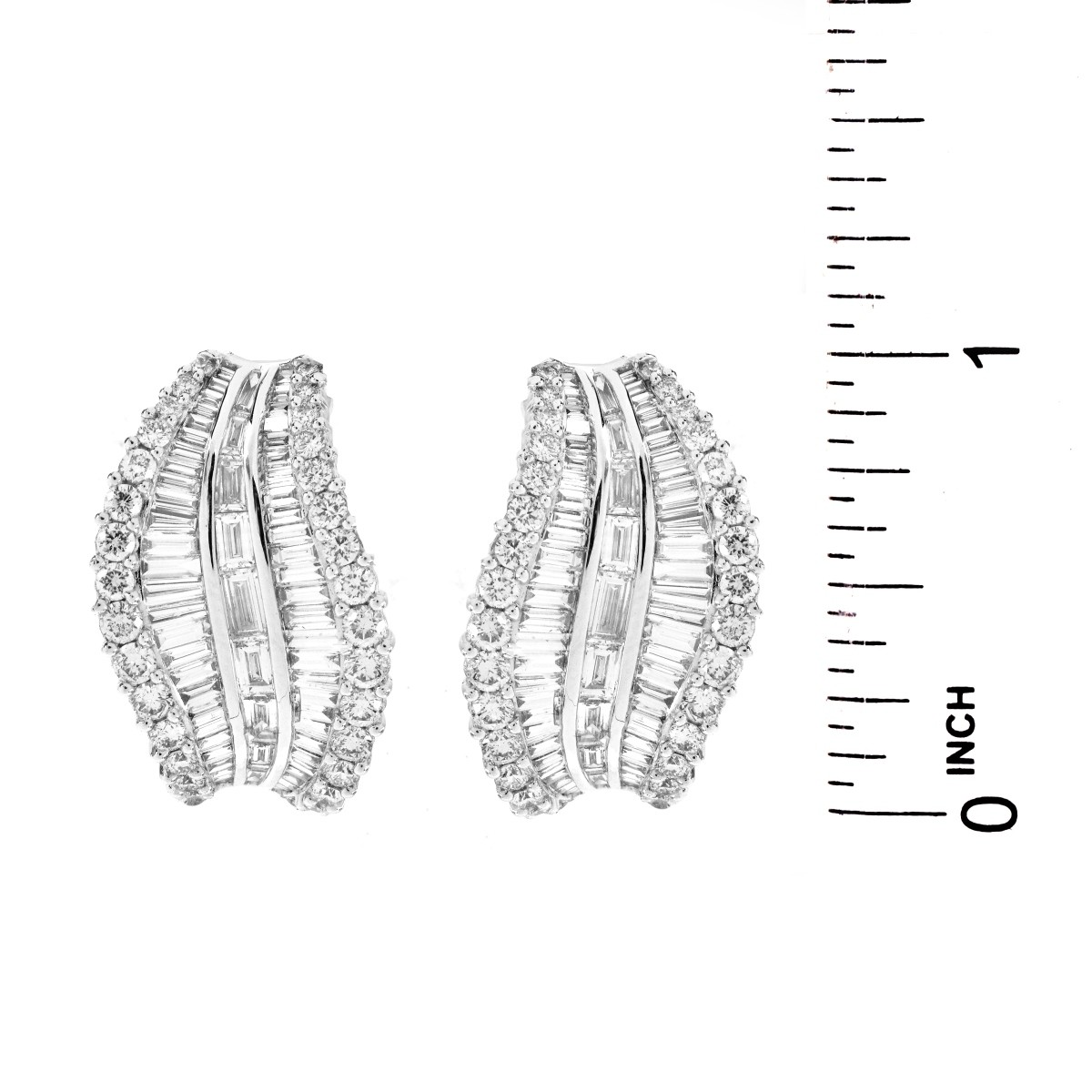 6.50ct TW Diamond and 18K Gold Earrings