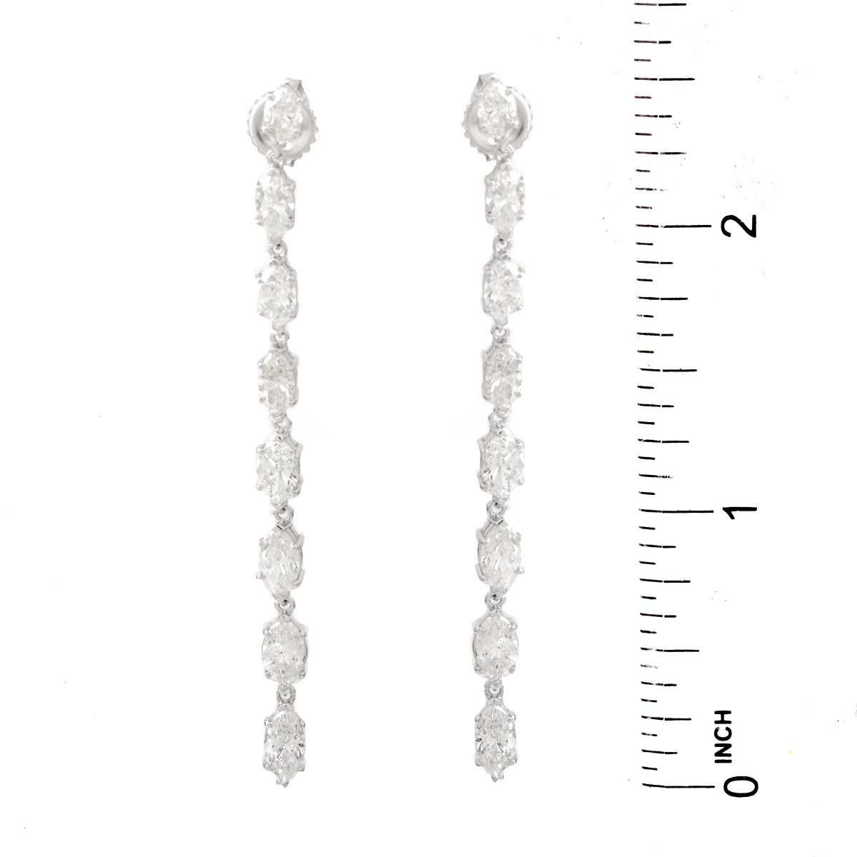 6.0ct Diamond and 14K Gold Earrings