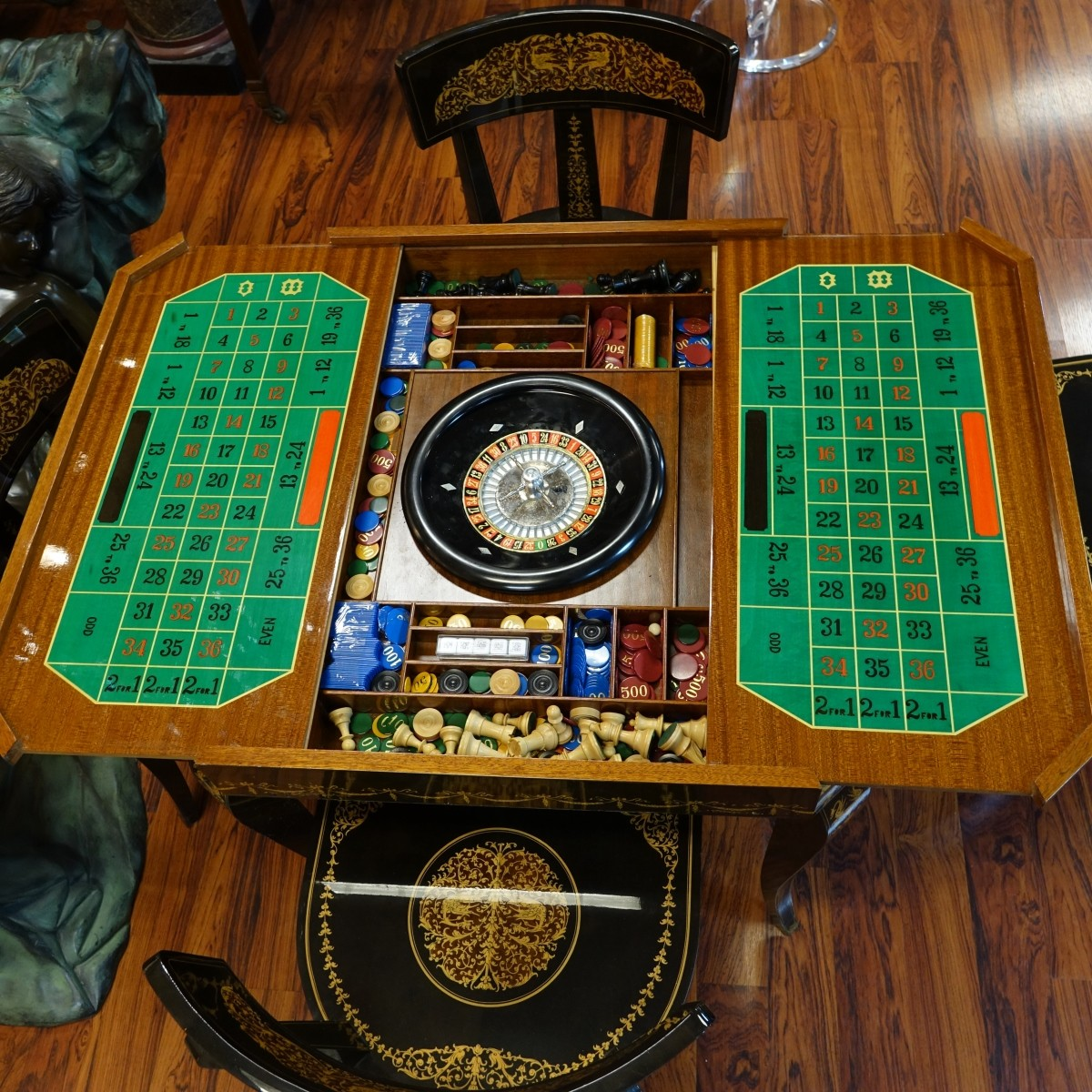 Vintage Italian Game Table and Chairs