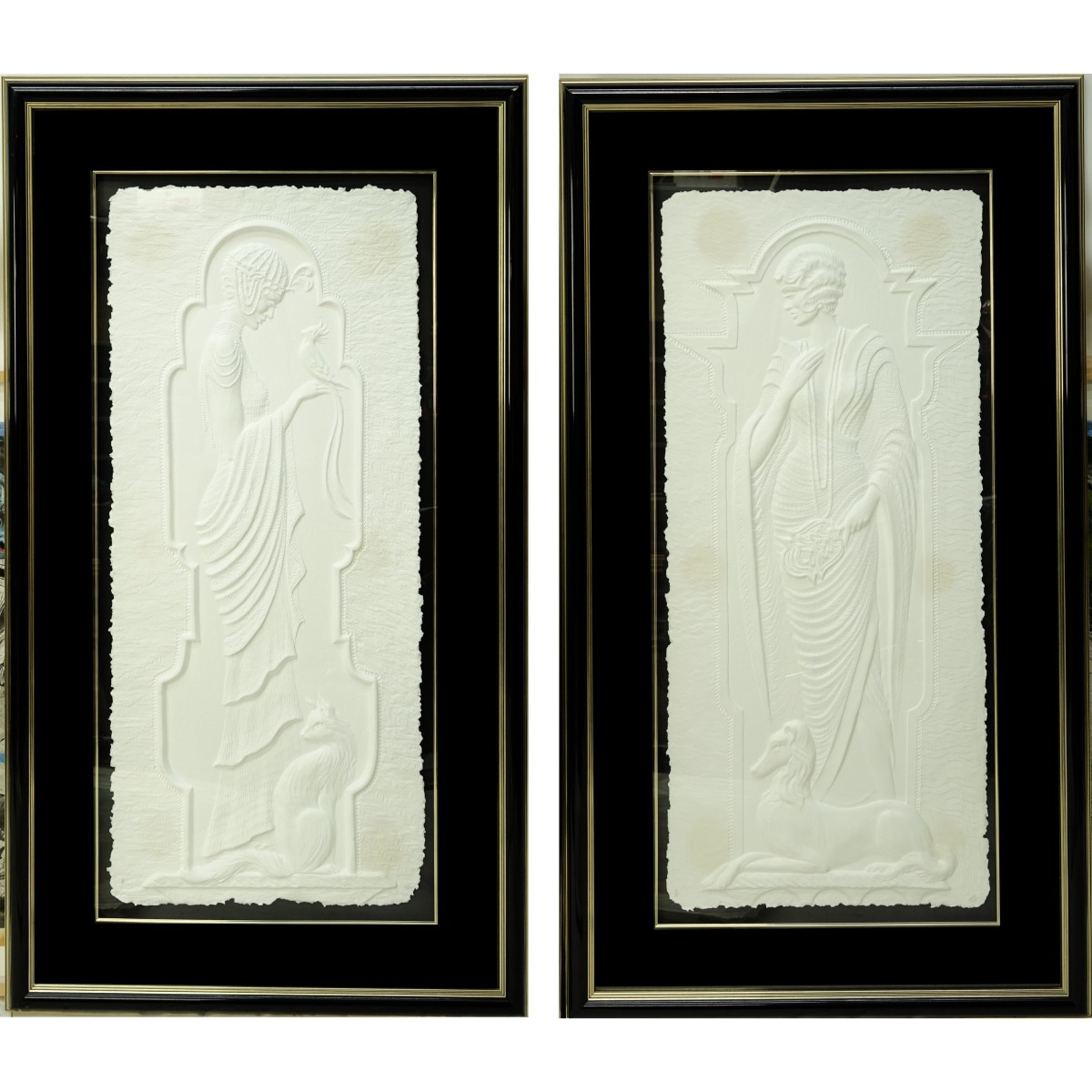 Large Art Deco Cast Paper