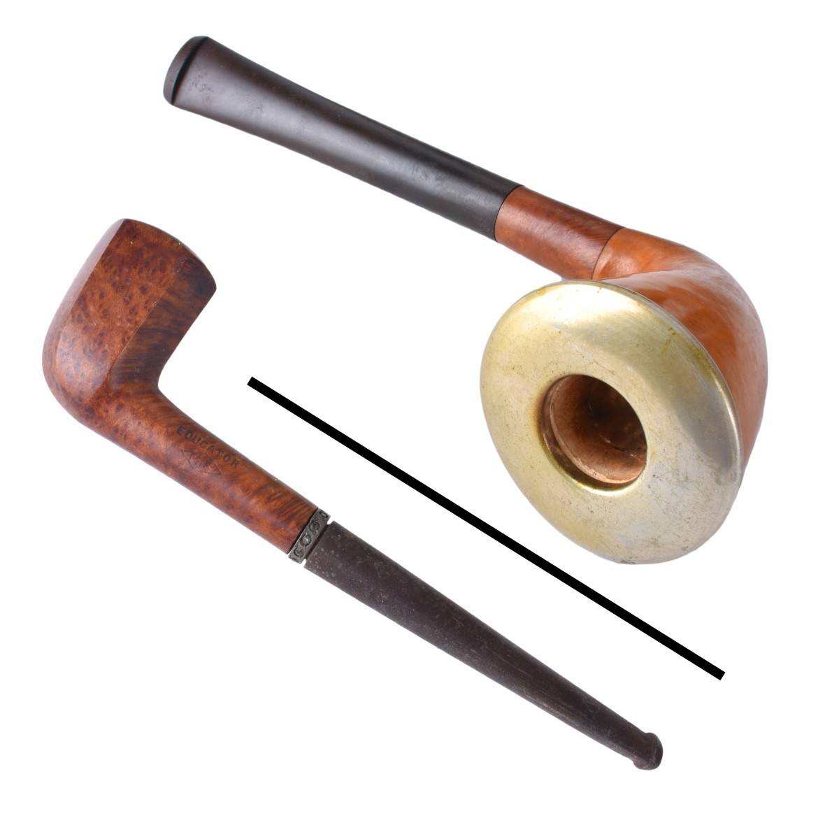 Collection of Smoking Pipes and Holders   Kodner Auctions