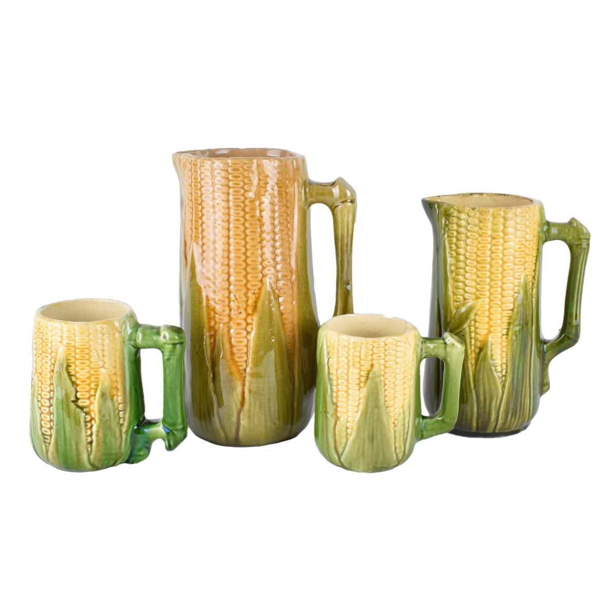 Old Majolica Pitchers