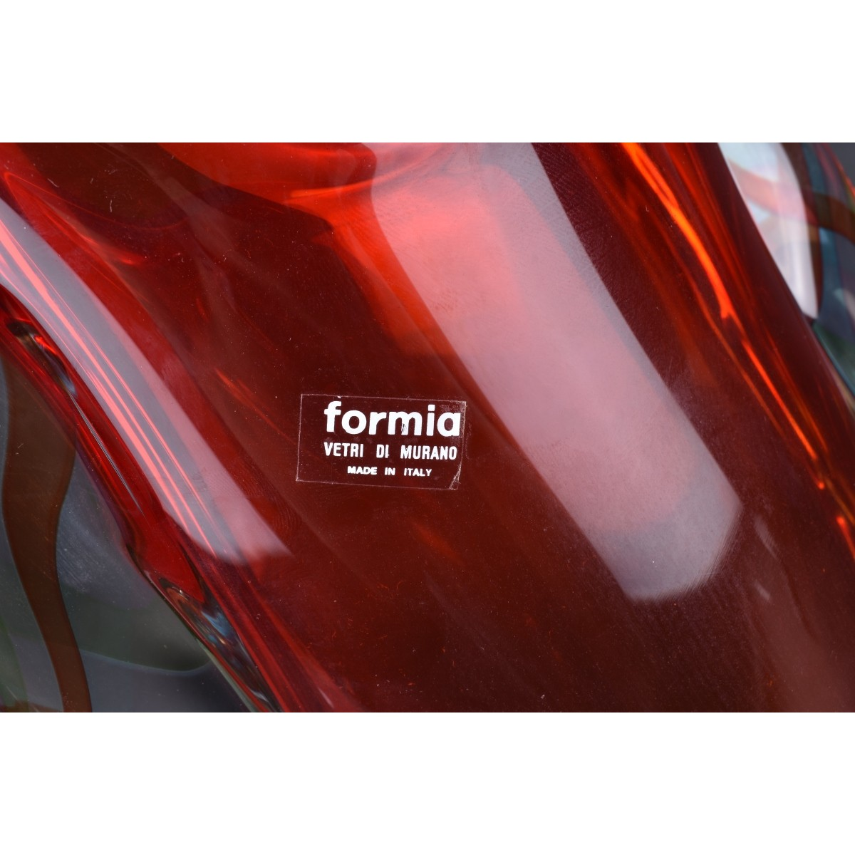 Formia for Murano Italian Art Glass Free Form Vase