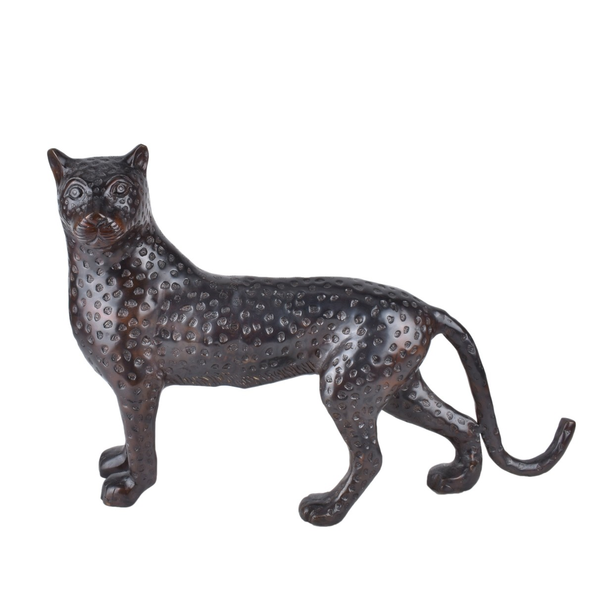 Modern Bronze Sculpture of a Cheetah
