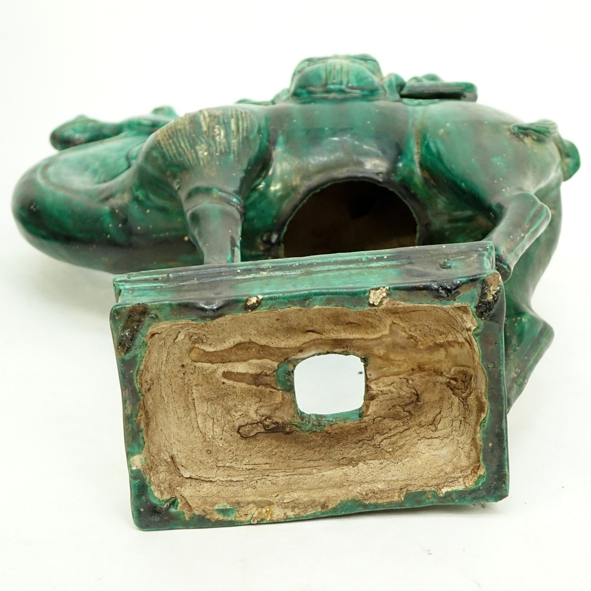 Pair of Chinese Tang Style Green Glaze Camels